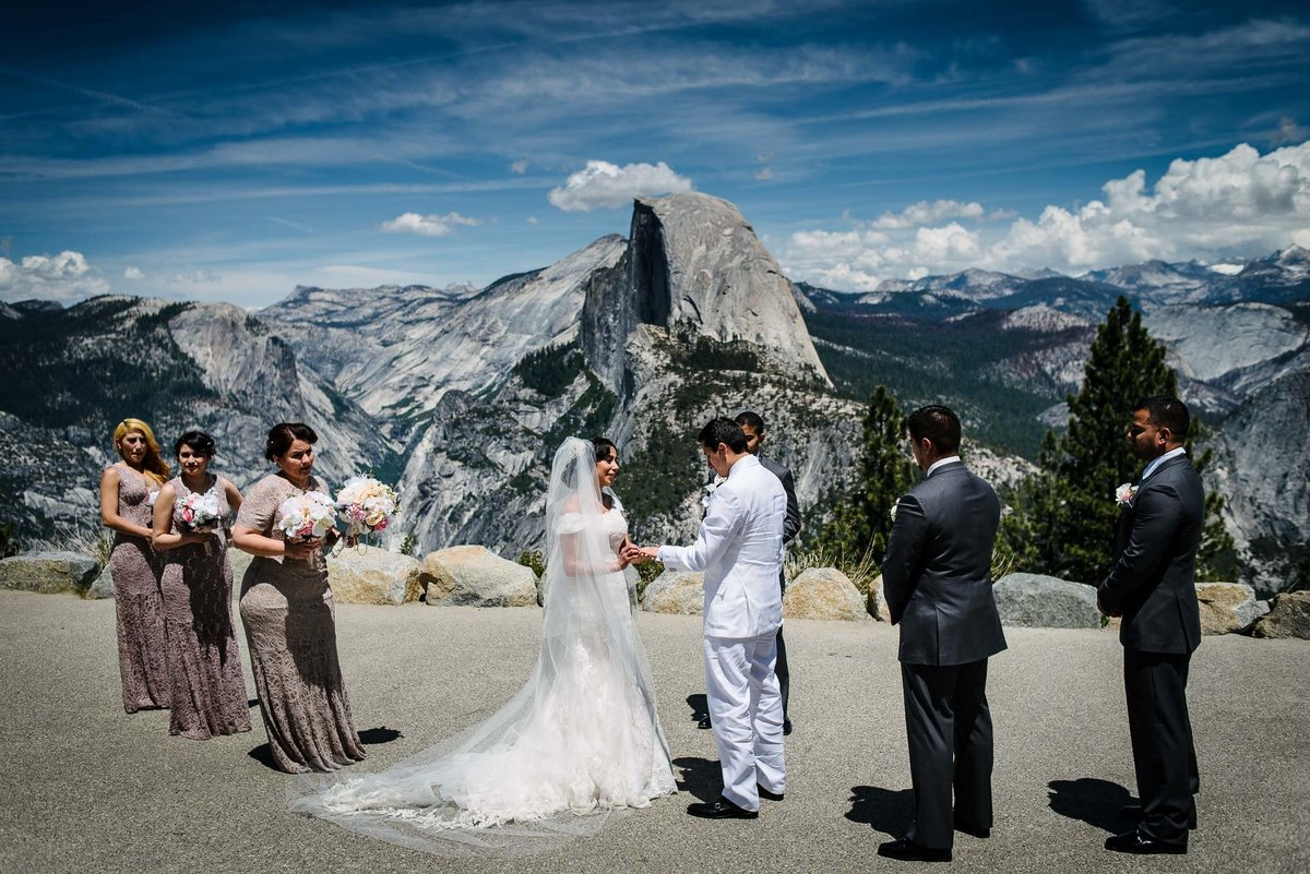 wedding ceremony at glacier point AT YOSEMITE NATIONAL PARK