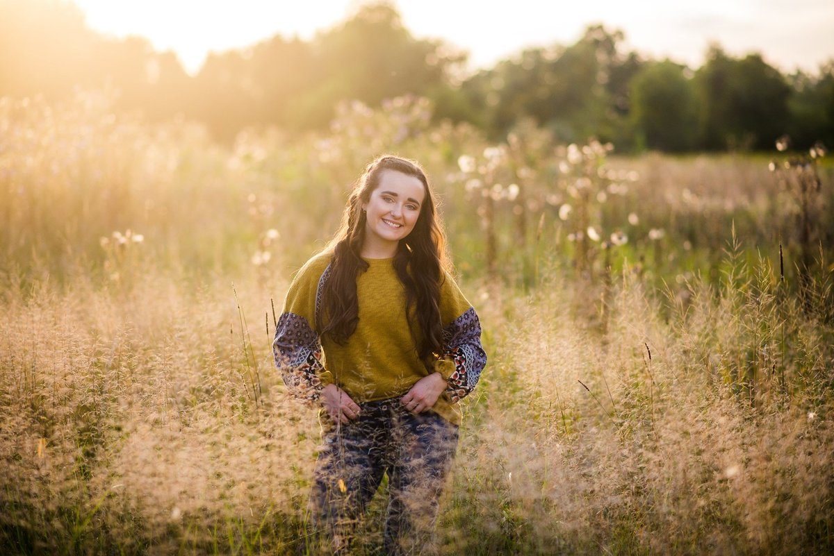 Senior Session in Open Field