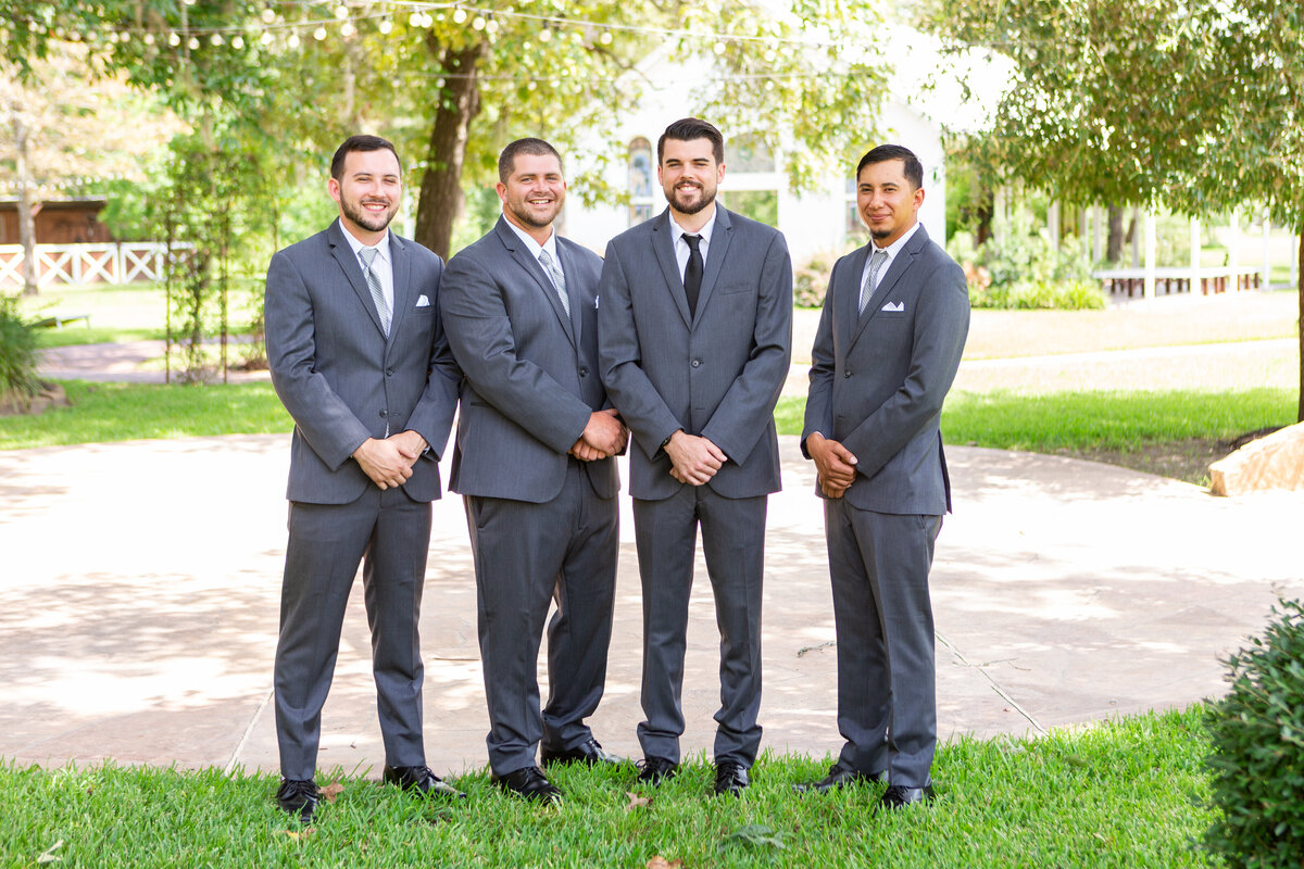 Groomsmen Posing at TownHall Texas