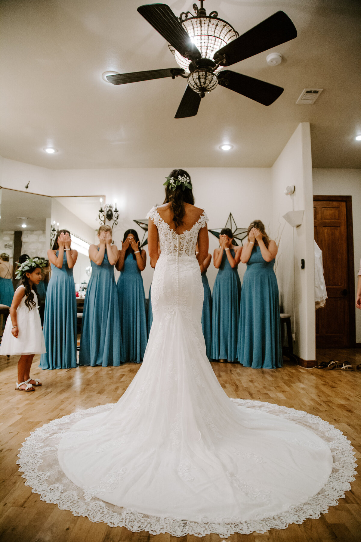 The Springs Rockwall TX Nimbus Events White Blue Wedding Dress Reveal
