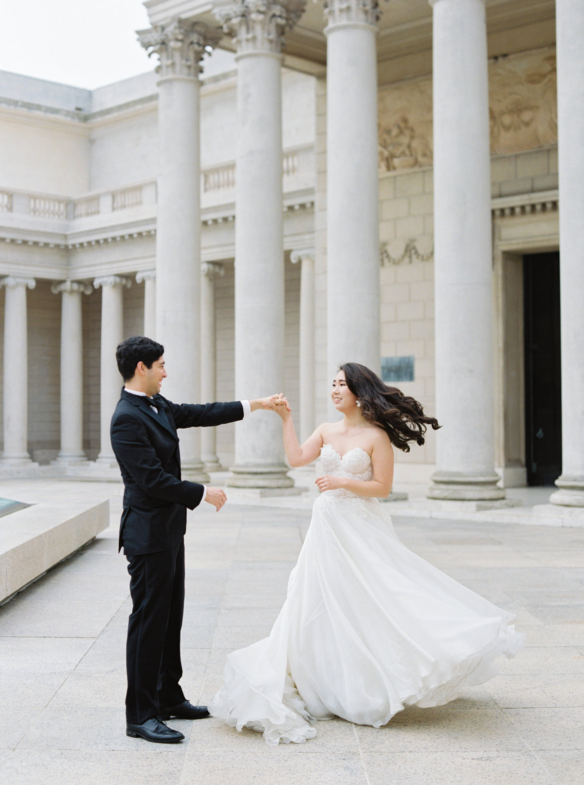 Diana + Pablo San Francisco California Legion of Honor Museum Wedding Session | Cassie Valente Photography 0054