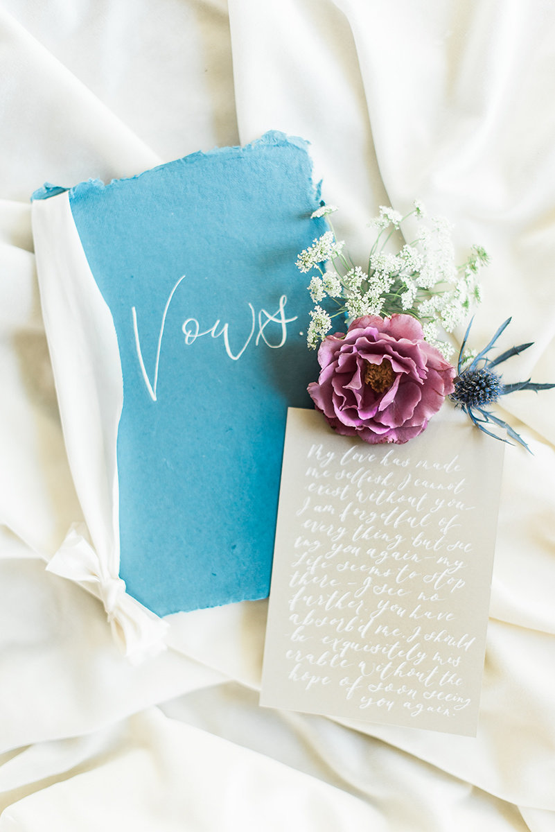 wedding vow book handmade paper