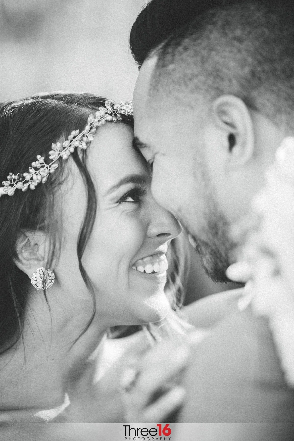 Bride shares a laugh with her Husband
