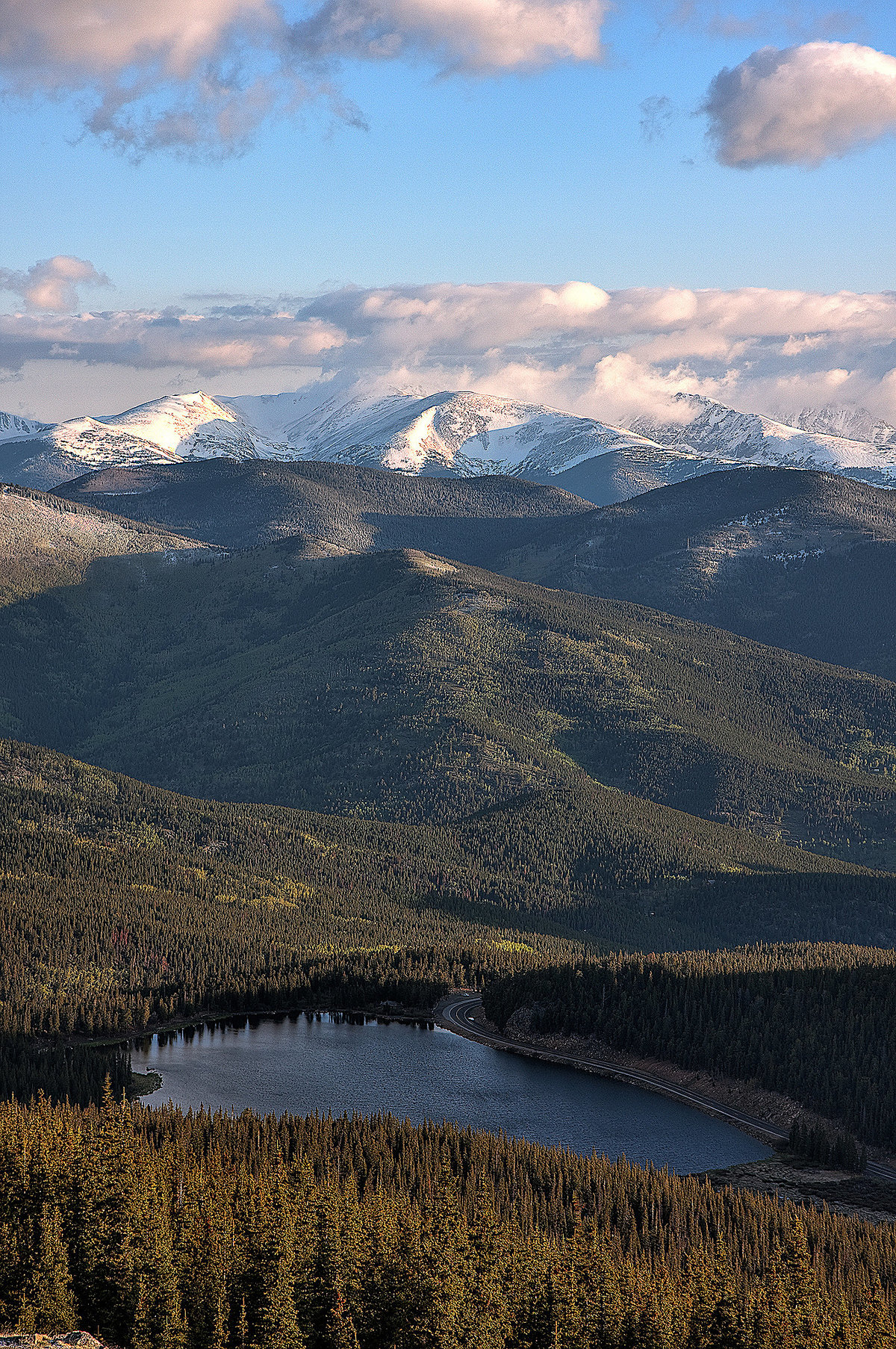 echo lake as viewed from mt evans in colorado