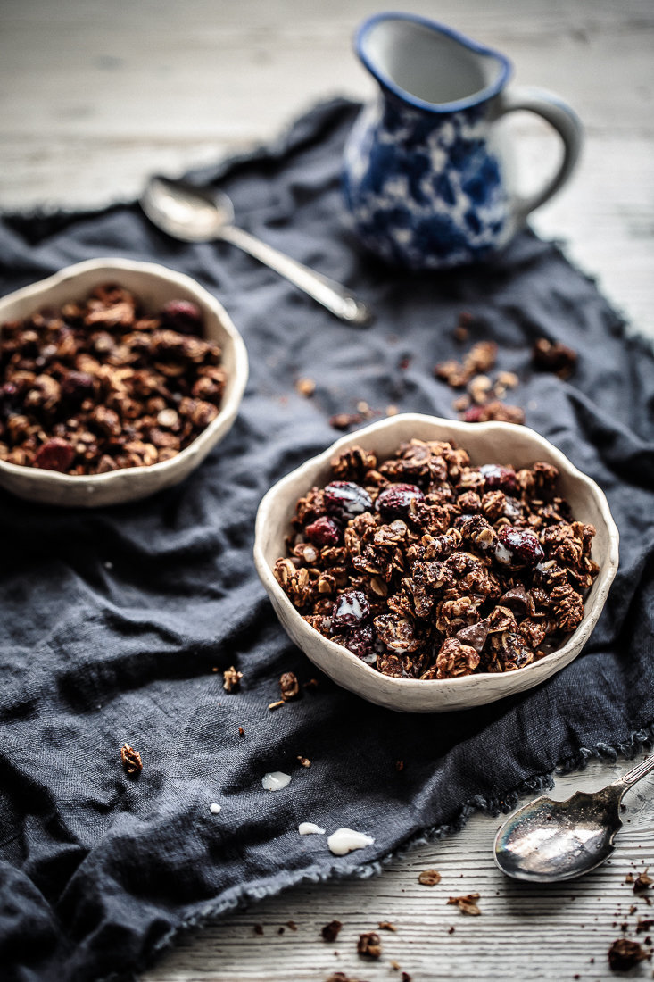 Nutella, Cranberry & Dark Choc Chip Granola | Anisa Sabet | The Macadames-6-4