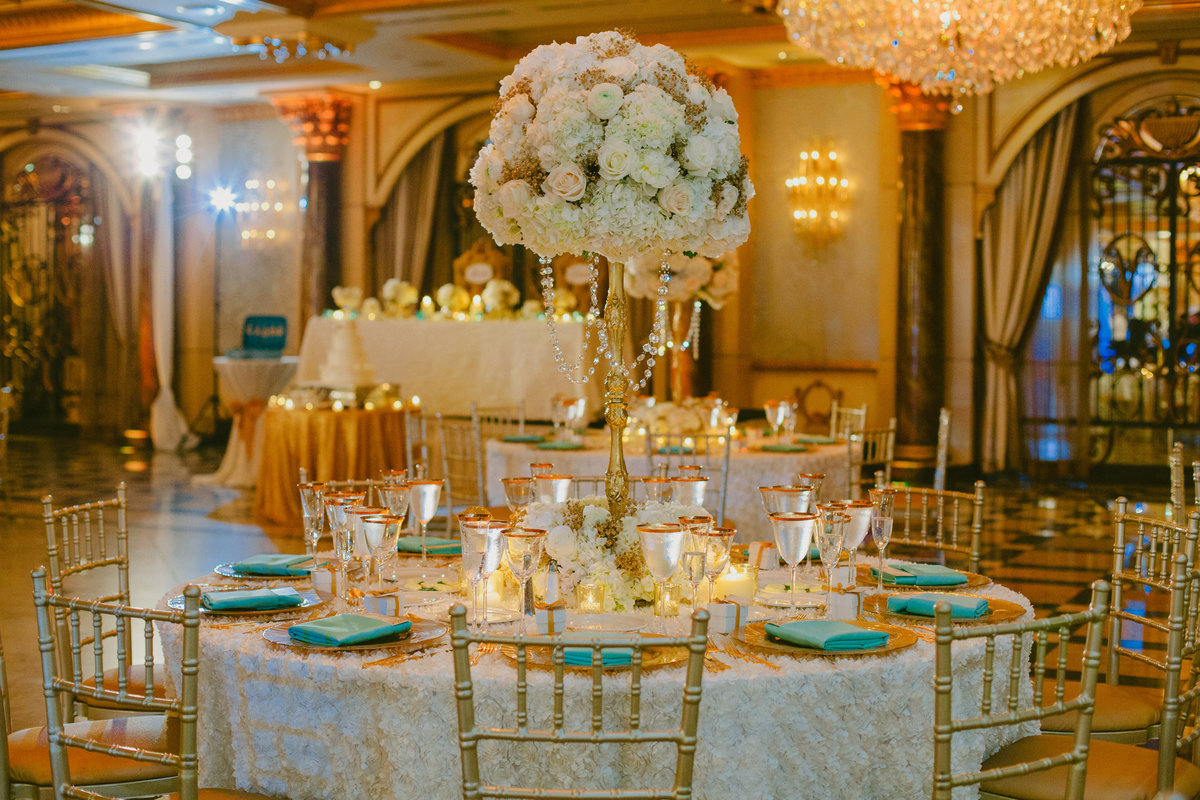 ivory gold tiffany blue beautiful wedding venetian new jersey nj event designer 12