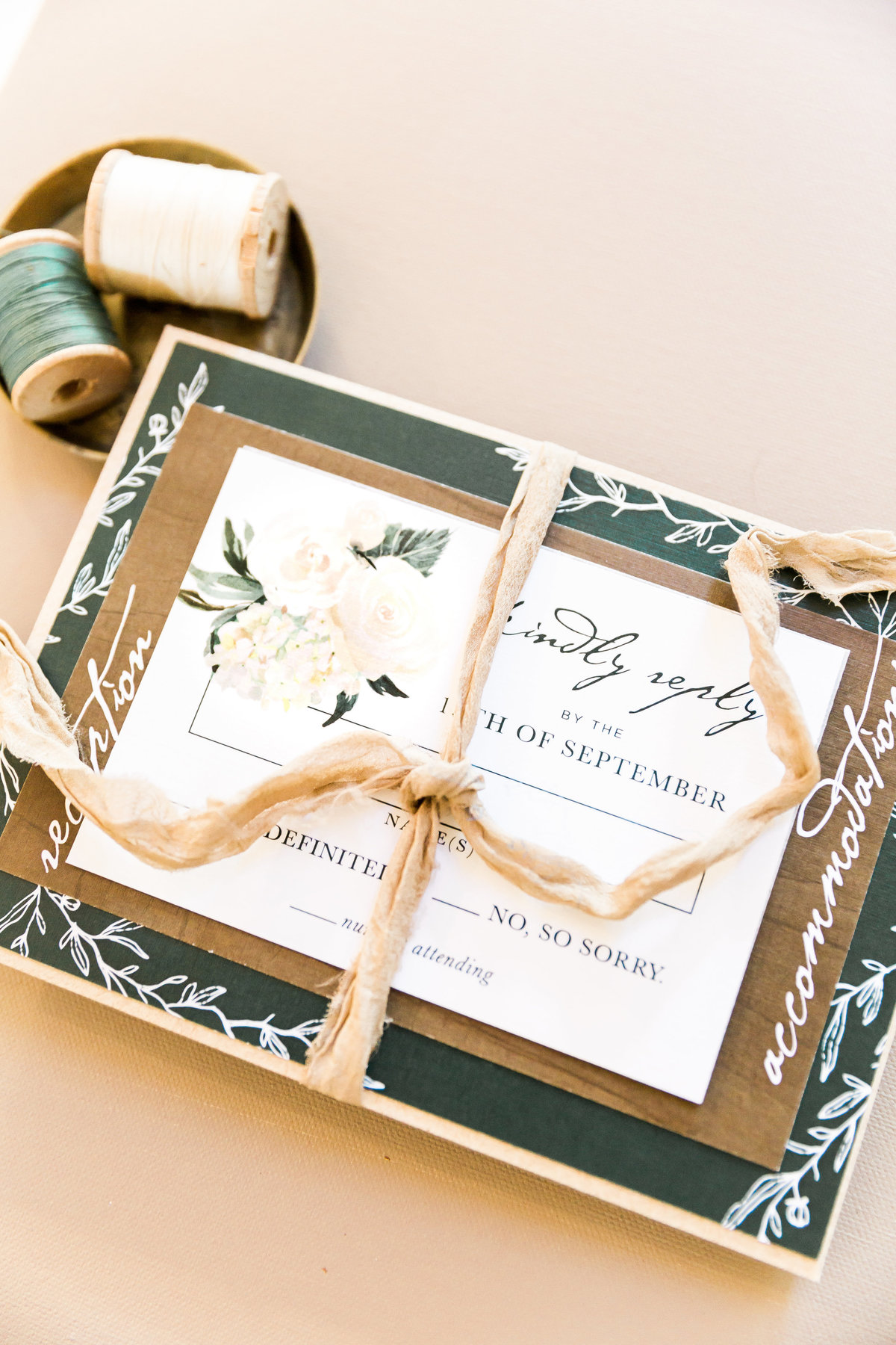 woodsy rustic wedding invitation