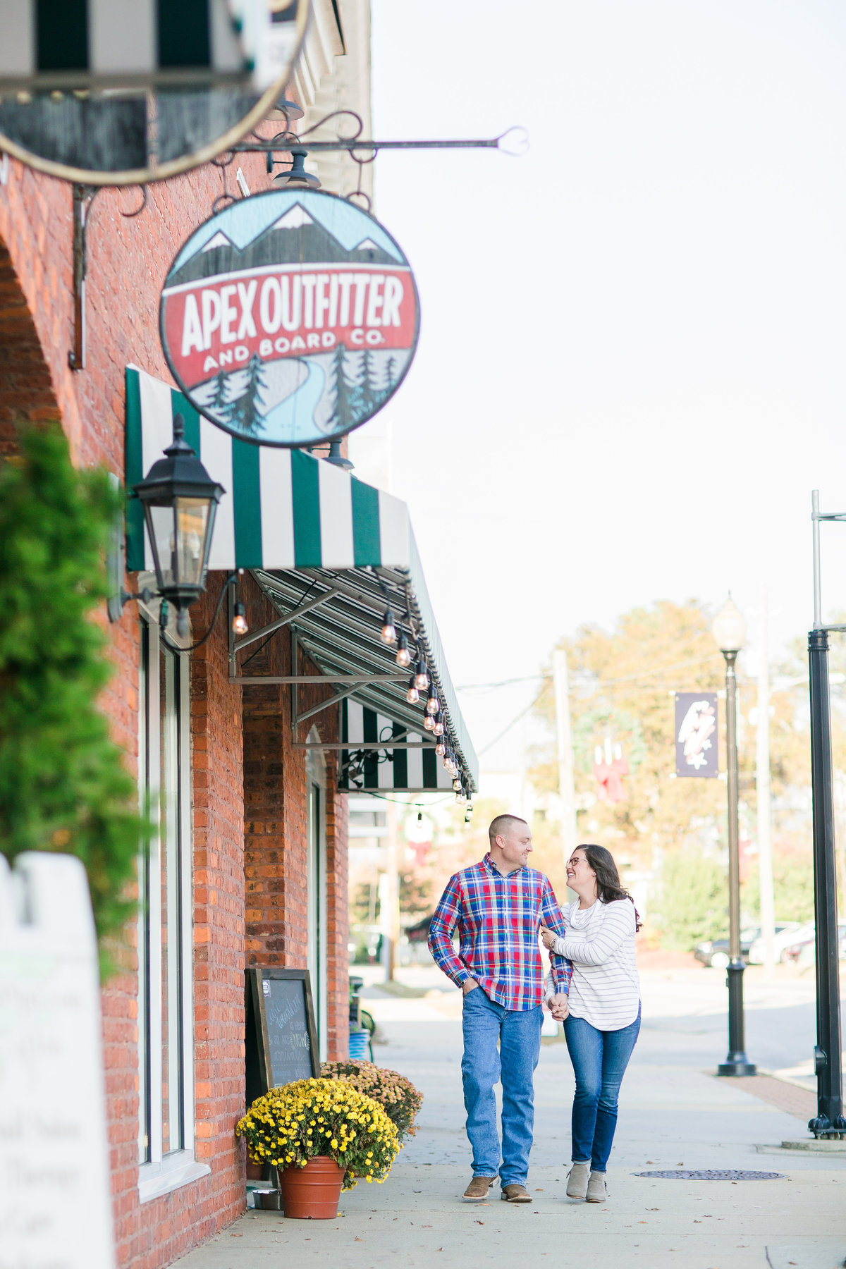 Downtown Apex engagement session