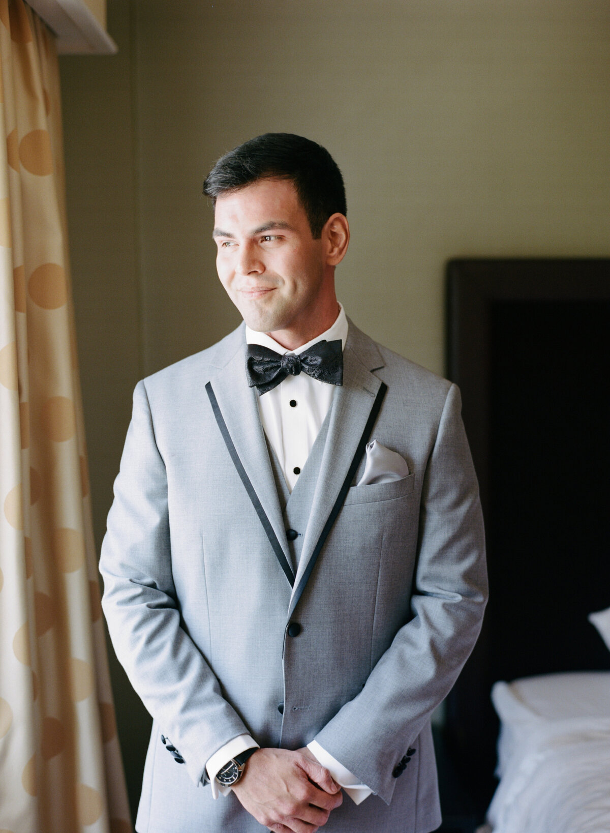 Groom getting ready shot and portrait