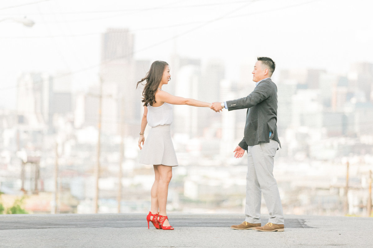 San Francisco Hills Engagement Photos