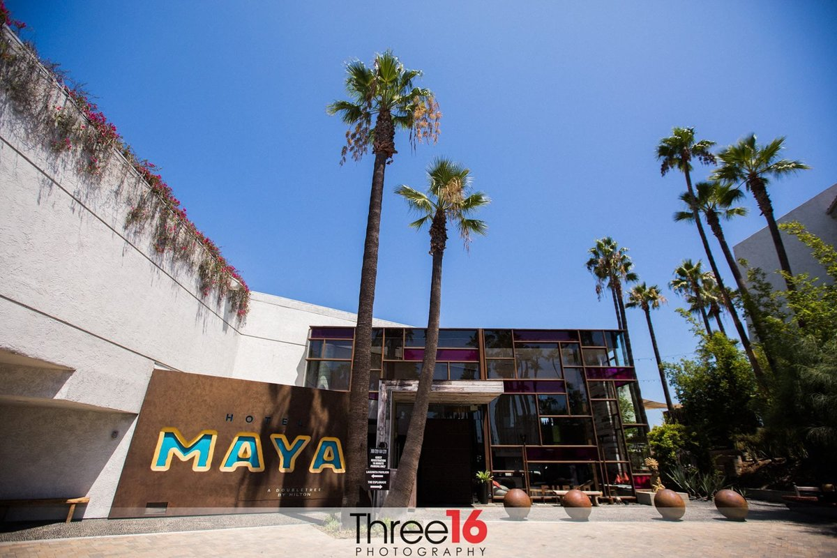 Entrance to the Hotel Maya in Long Beach, CA