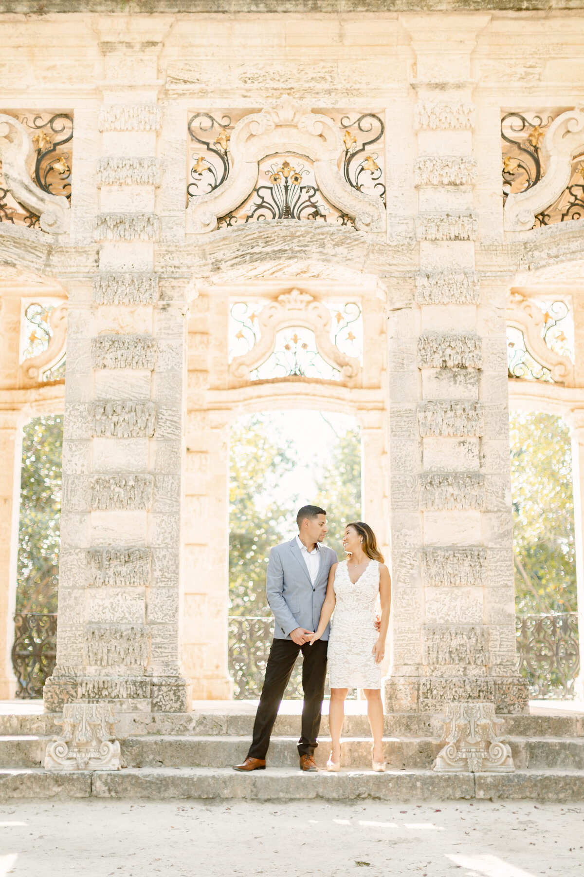 Vizcaya Museum Engagement Photography Session 17