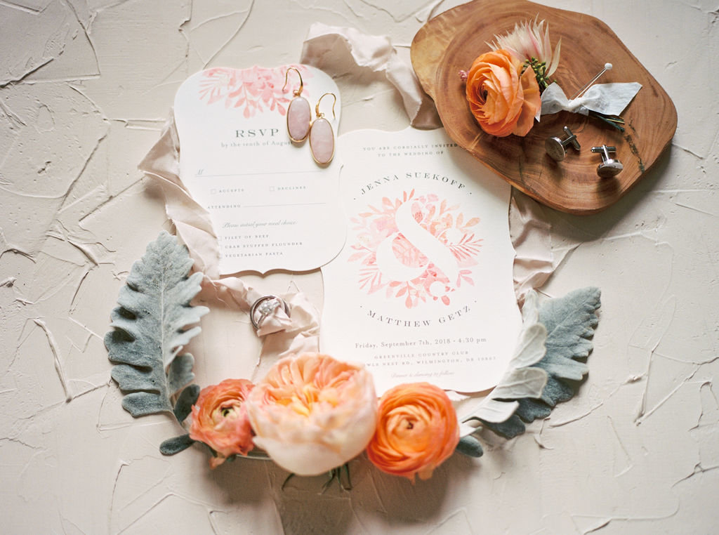 Delaware wedding florist stationery