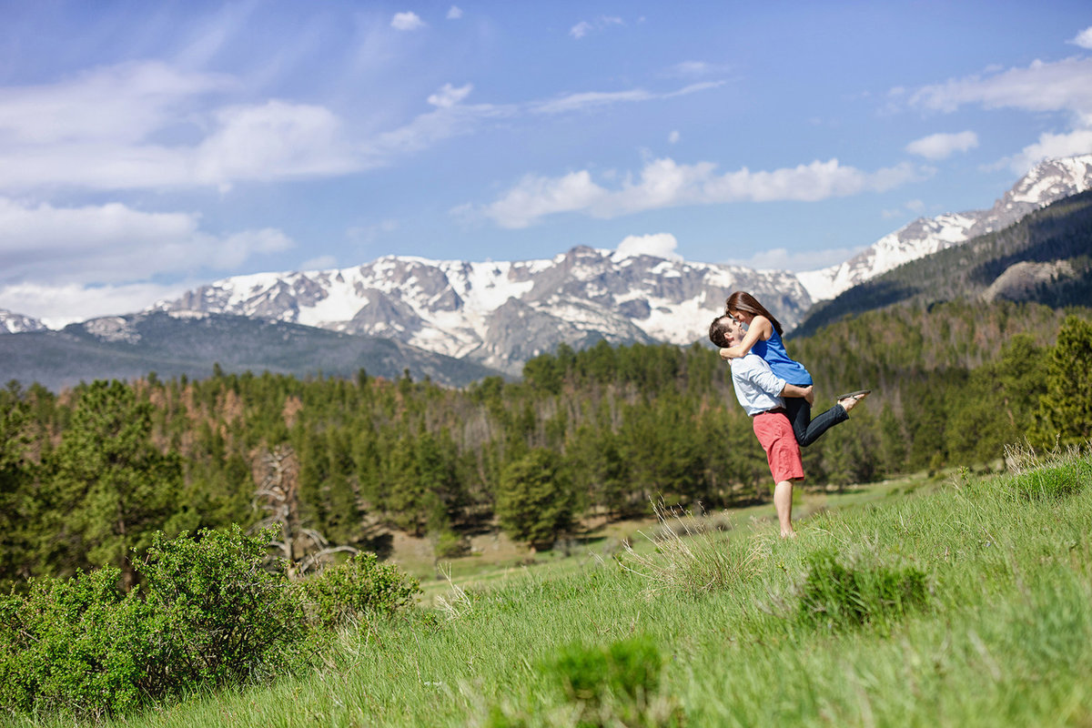 RMNP engagement photo session