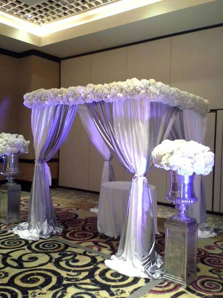 floral wrap around chuppah Hard Rock Hotel
