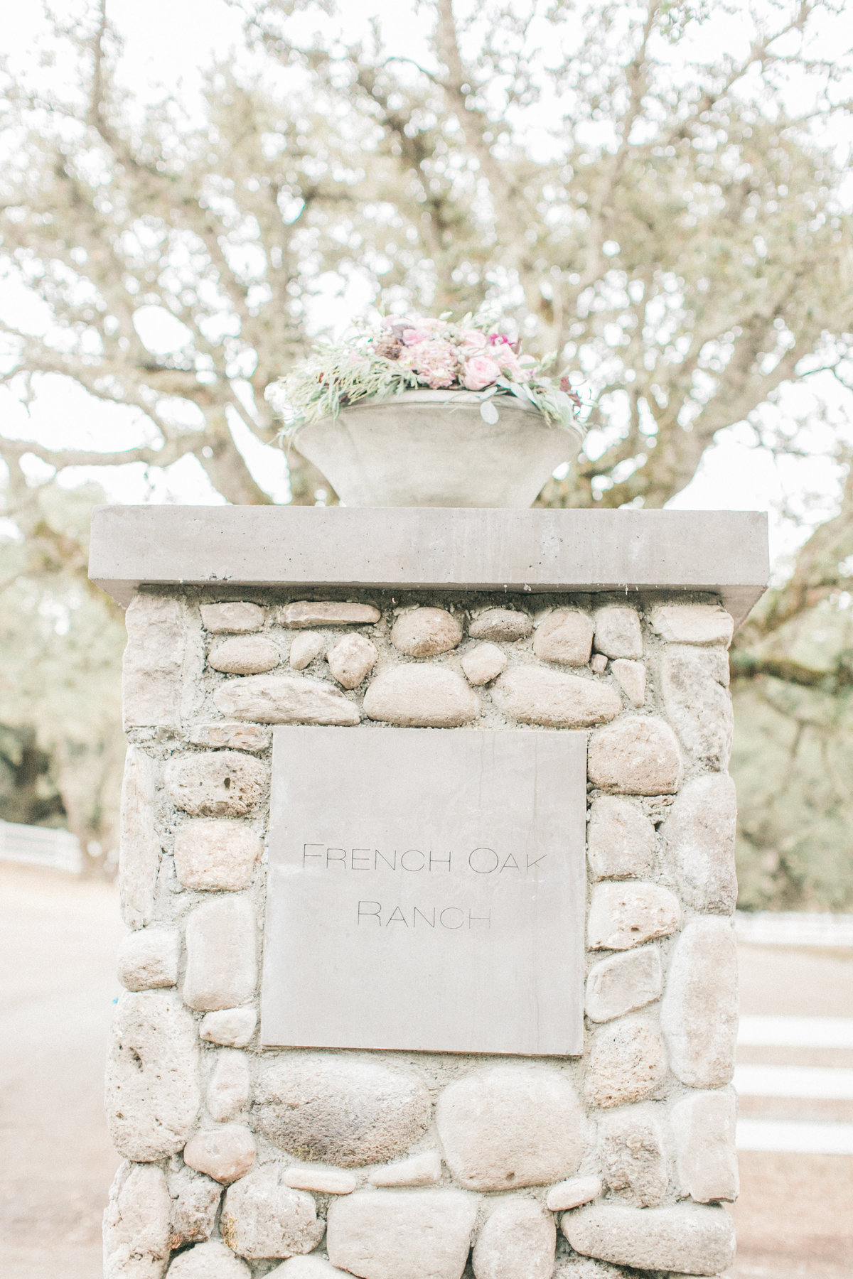 French Oak Ranch Entrance