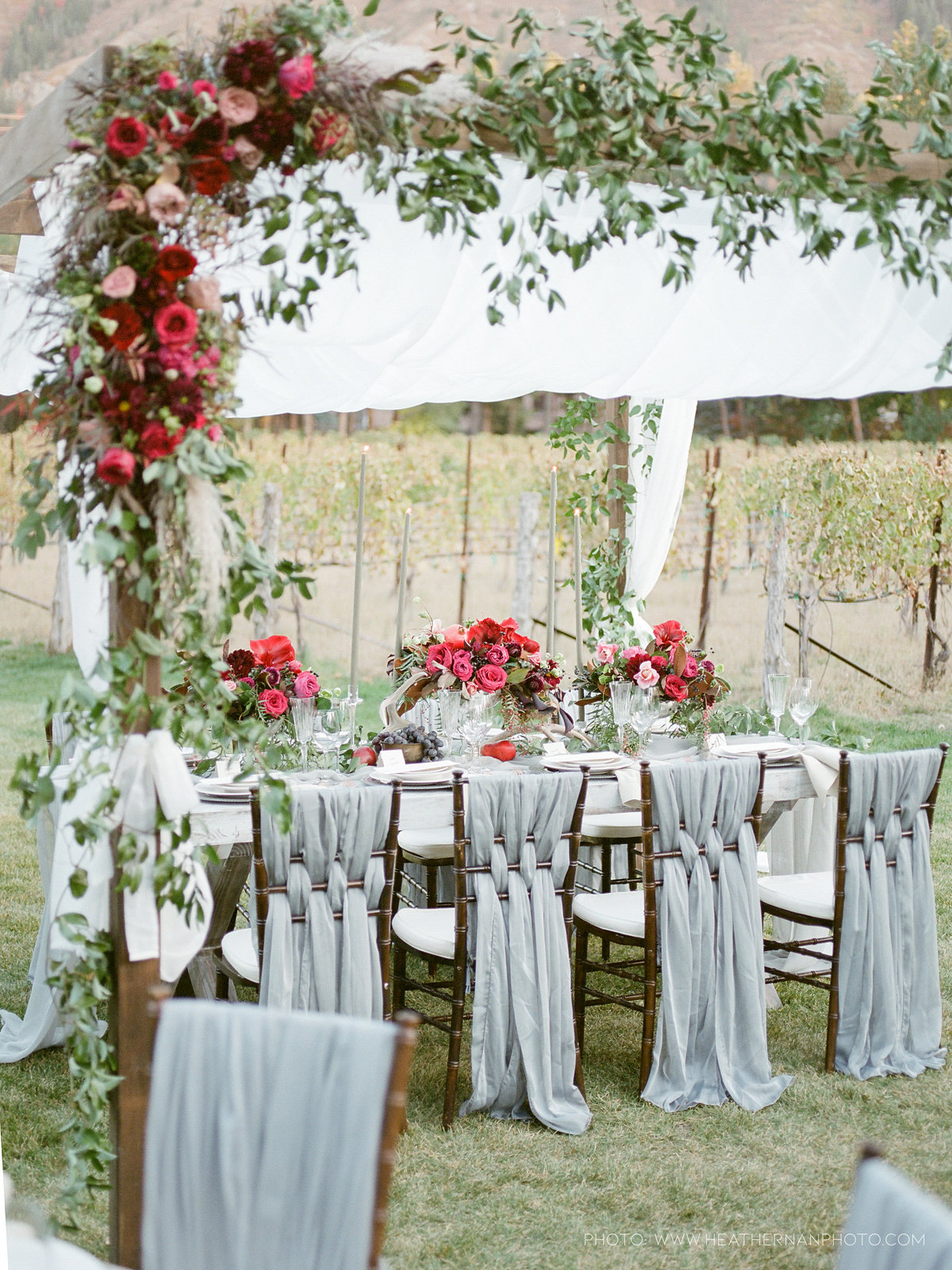 Utah Florist_Romantic Vineyard Wedding_Red Wedding Ideas-0158