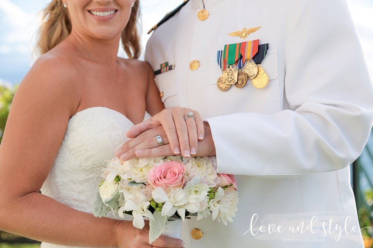 Sarasota-Bradenton Wedding Photography close up with the rings and bouquet