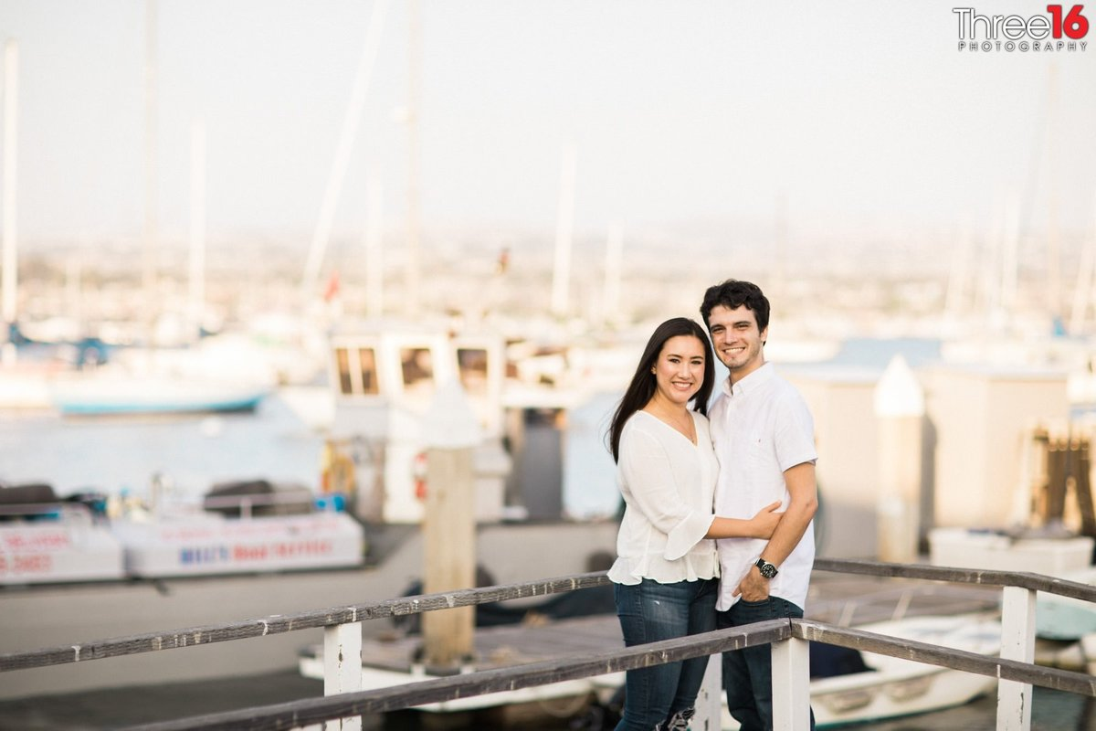 Balboa Fun Zone Engagement Session Newport Beach
