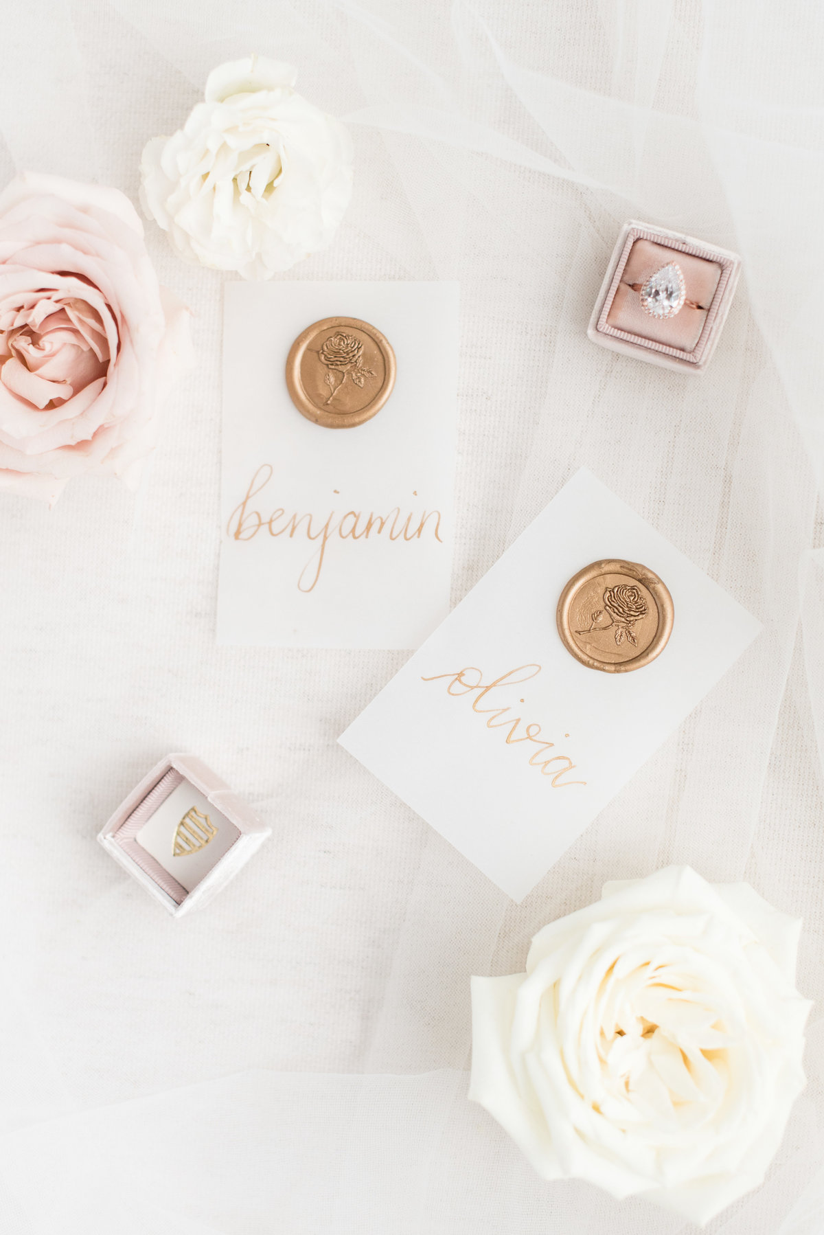 Place cards designed by Amy Sylvia Designs in Thunder Bay