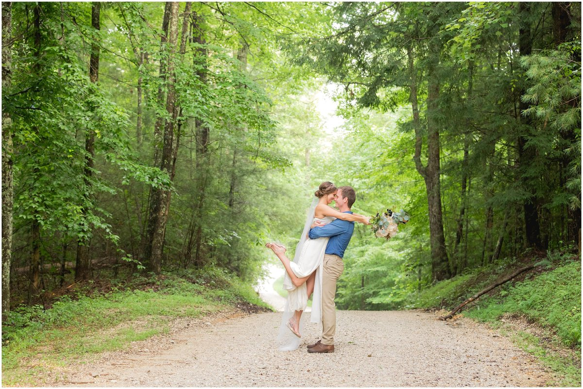 Bride and groom at Events at Hemlock Springs