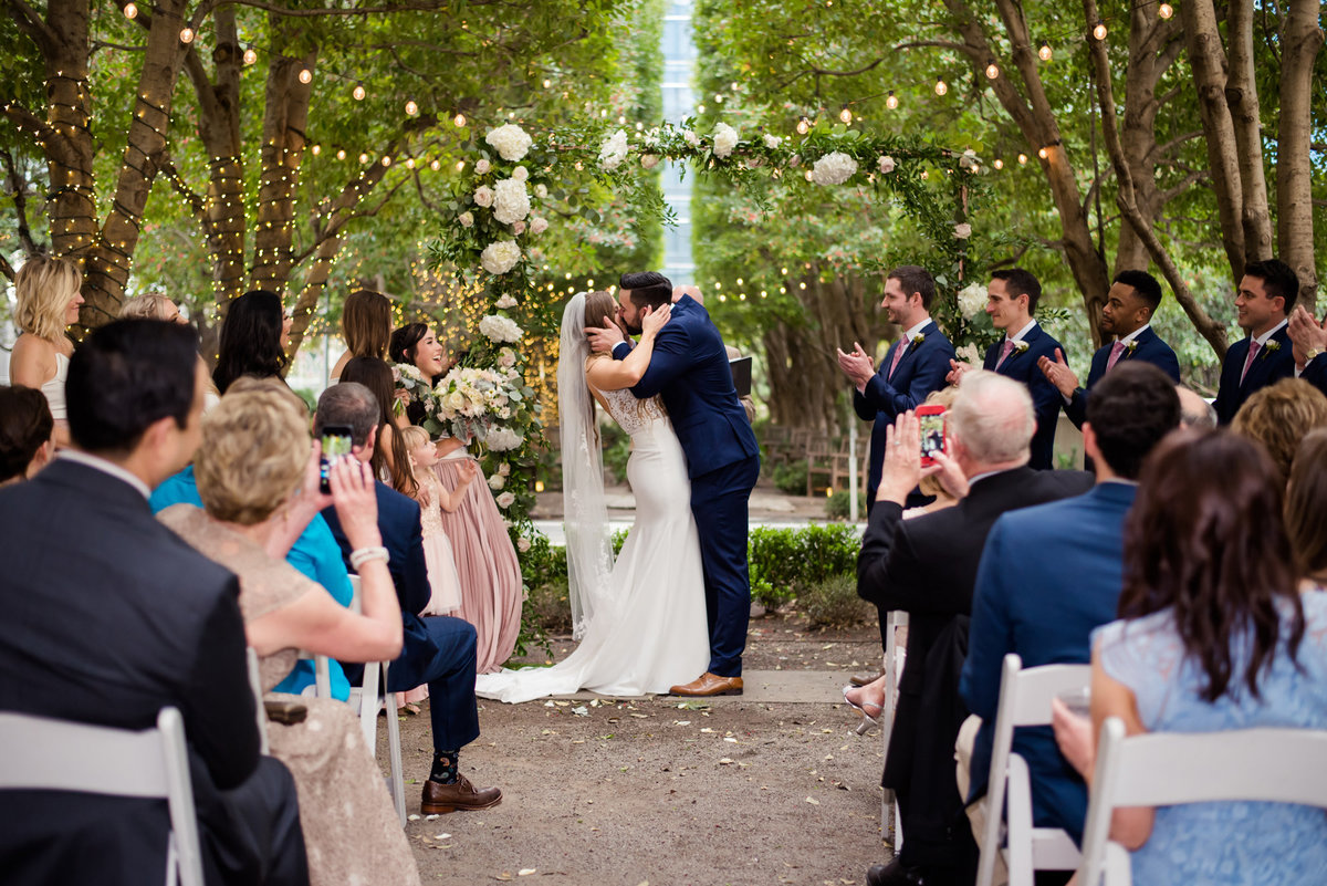 wedding ceremony at Maria Gabriella in Dallas