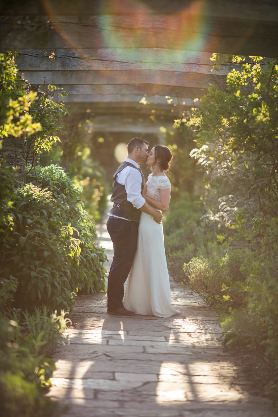 Hestercombe Gardens Wedding Photo in summer evening light