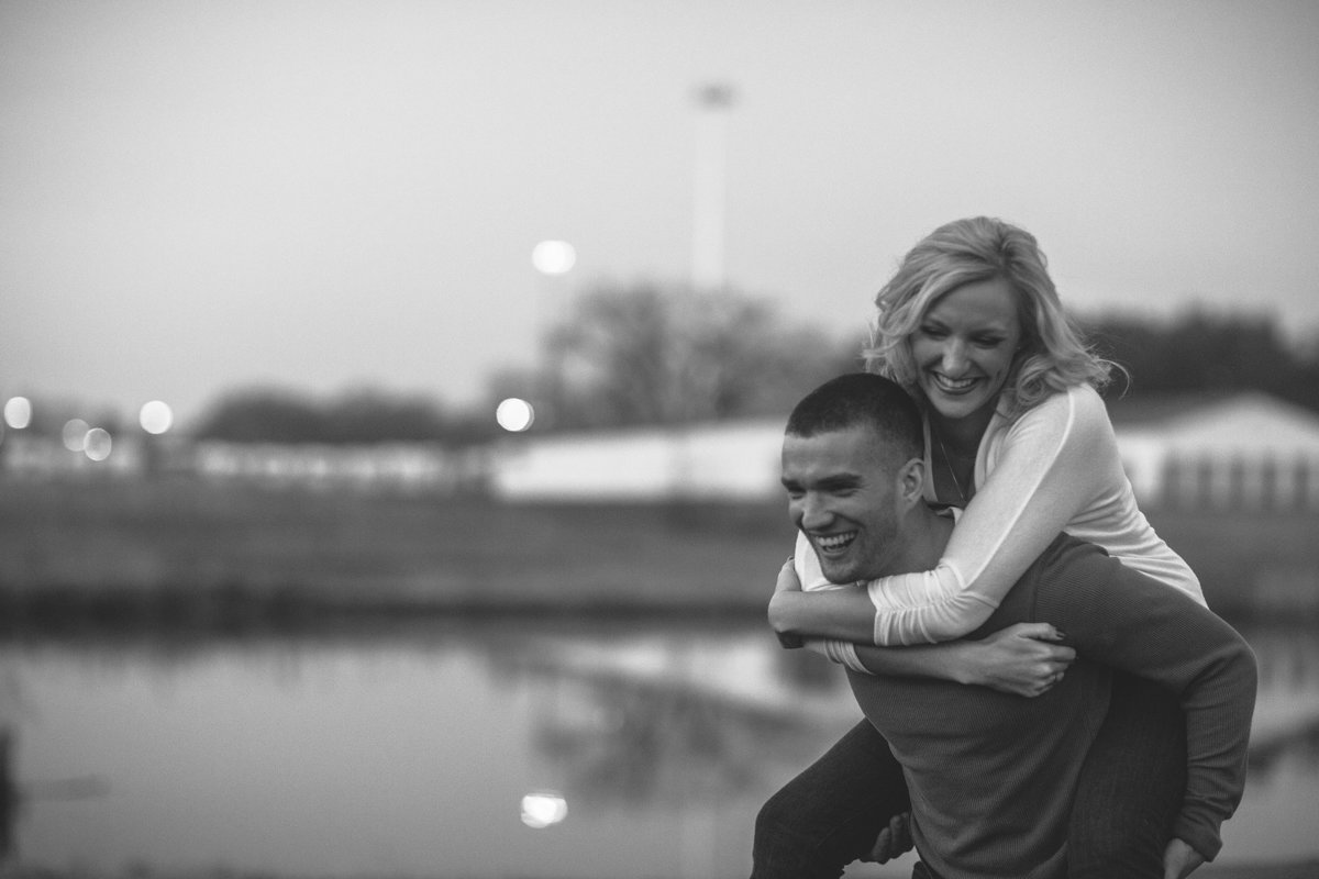 couple laughing during their engagement photographs