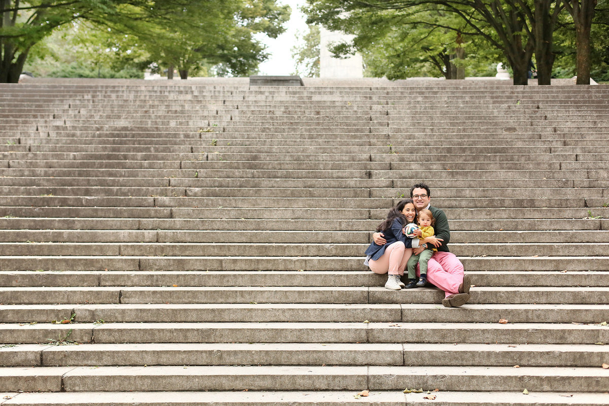 Family portrait in Fort Greene Park