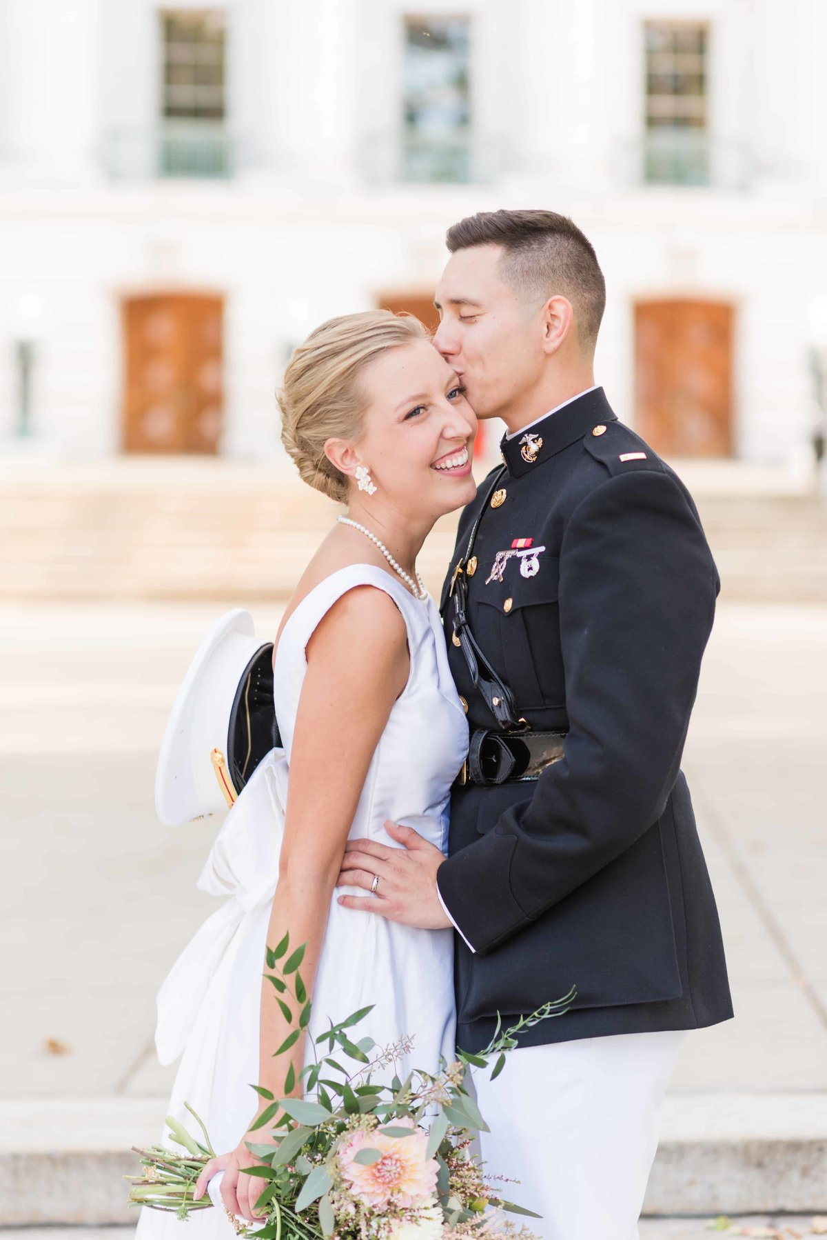 Madison State Capital Wedding Portrait