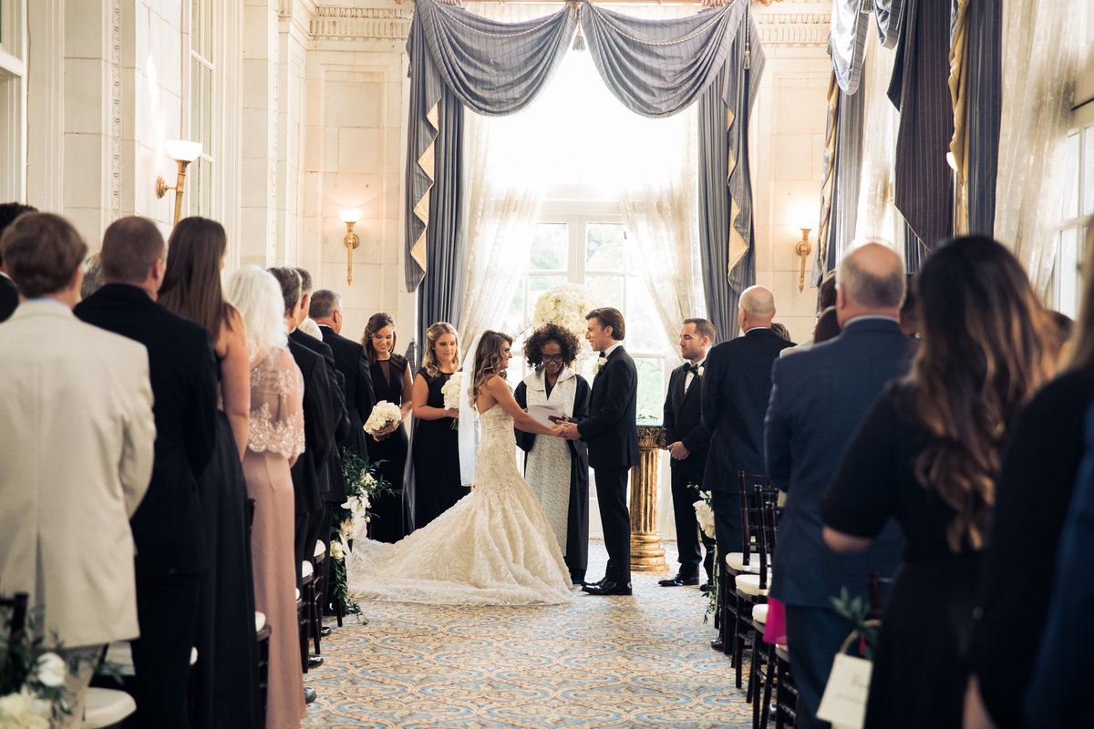 wedding Ceremony at the Hermitage hotel in Nashville.