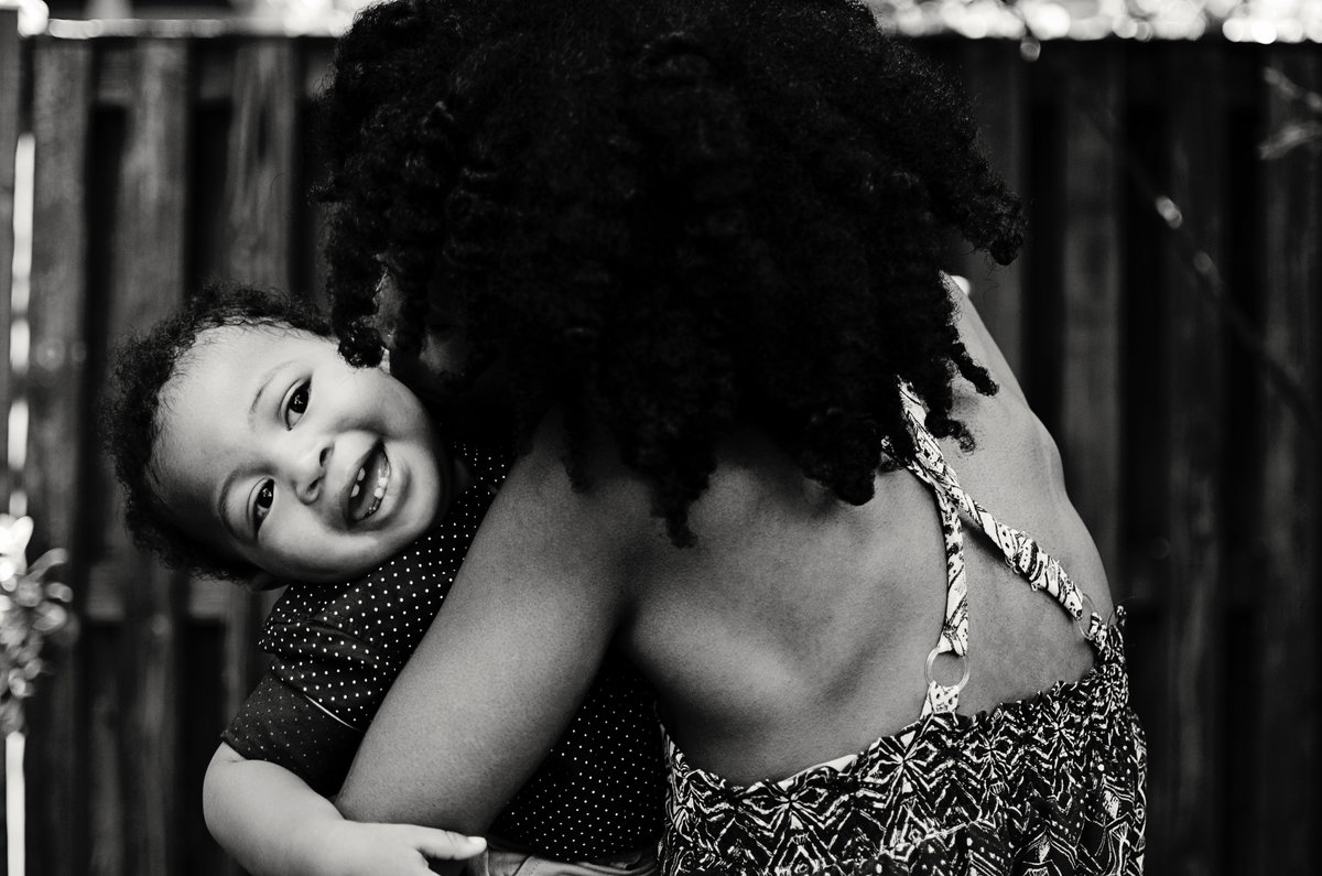 Portrait of a mother and her little son during a lifestyle session in Northern Virginia by Sarah Alice Photography