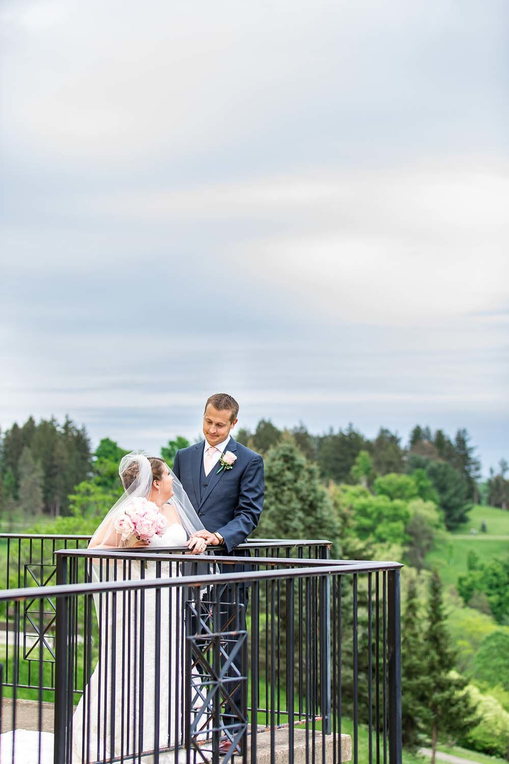 Wedding-Couple-On-Balcony-Wheeling-West-Virginia