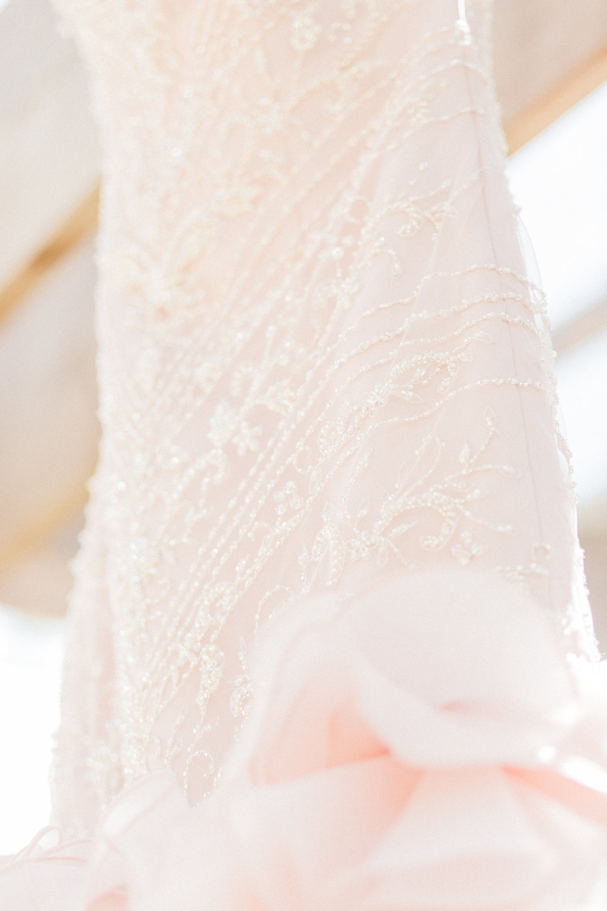 Crystal Beading Wedding Dress Detail