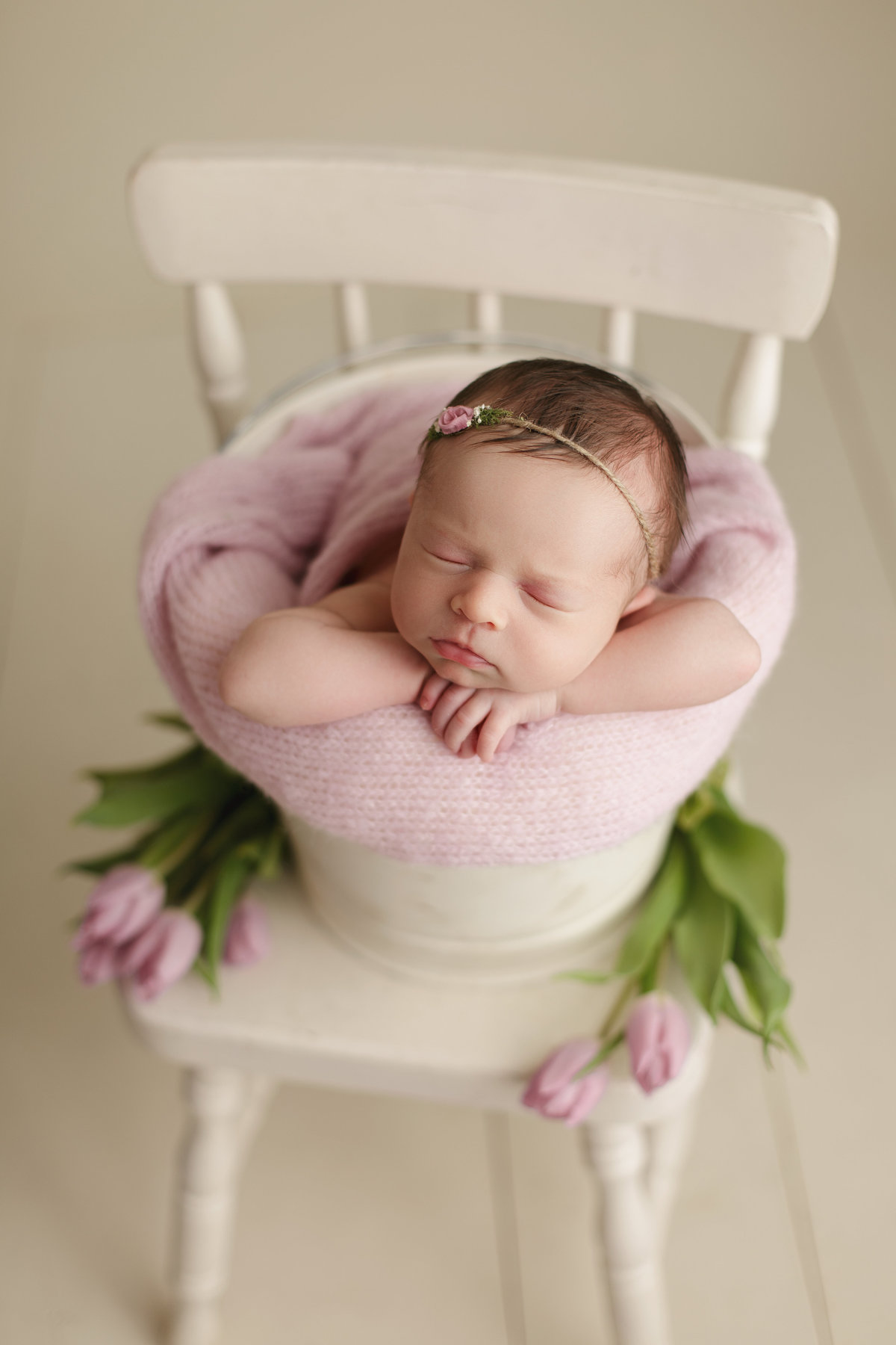 Fresh flowers with Newborn