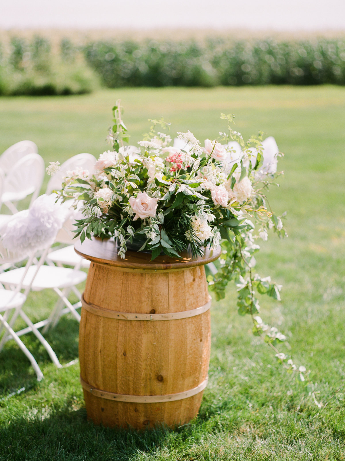 Madison House Designs floral wedding barrels