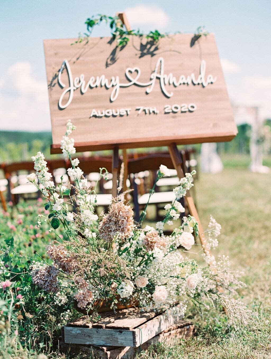 Bay Harbor Wedding Flowers Ceremony Sign-min