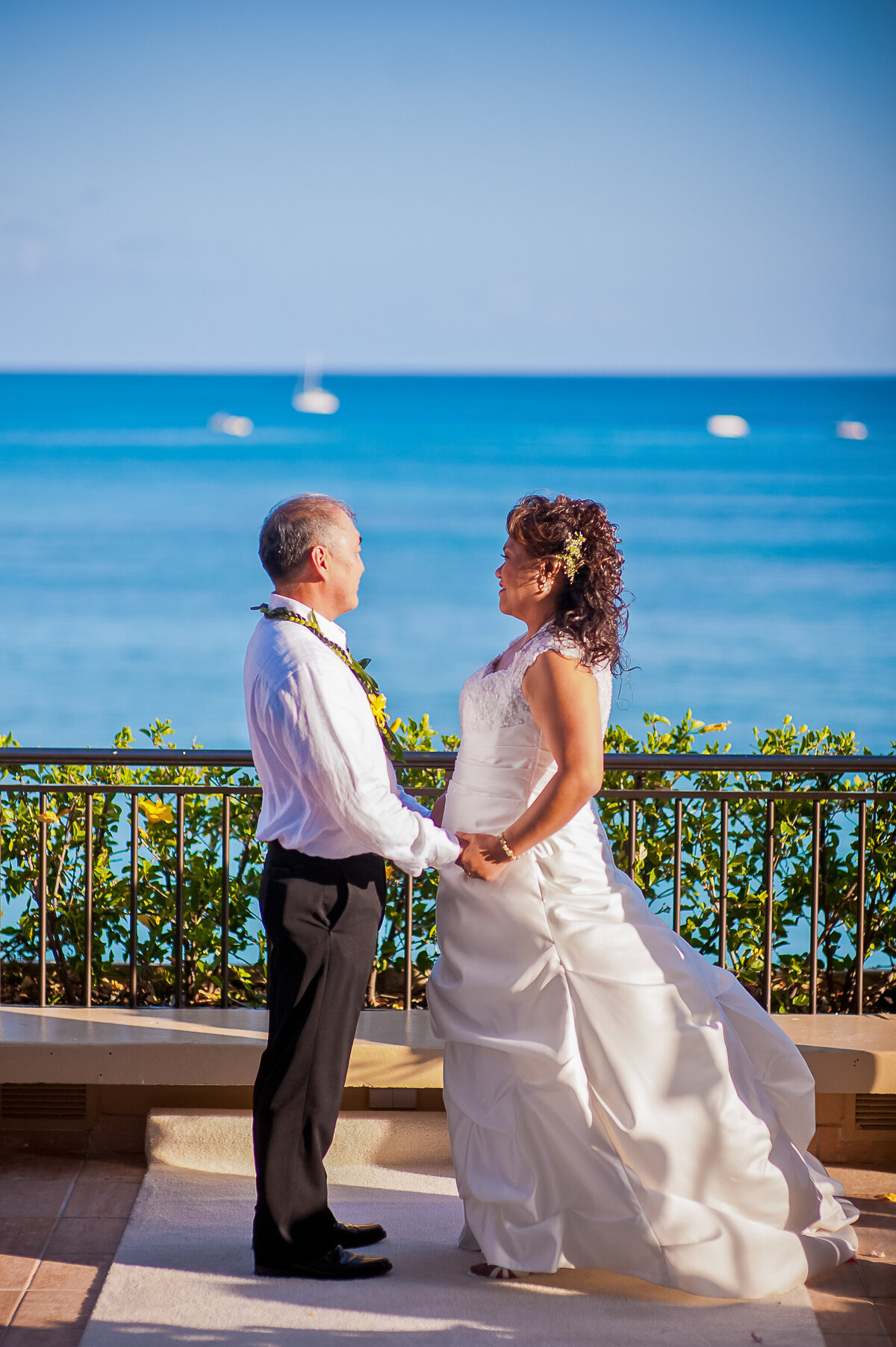 Bride and Groom Marry Overlooking the Ocean