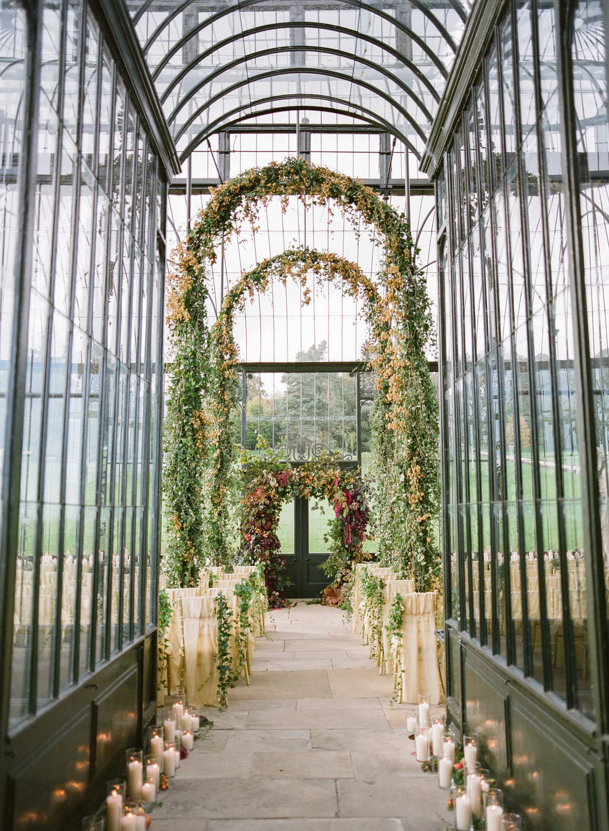 52-KTMerry-destination-weddings-Ballyfin-greenhouse-interior-Ireland