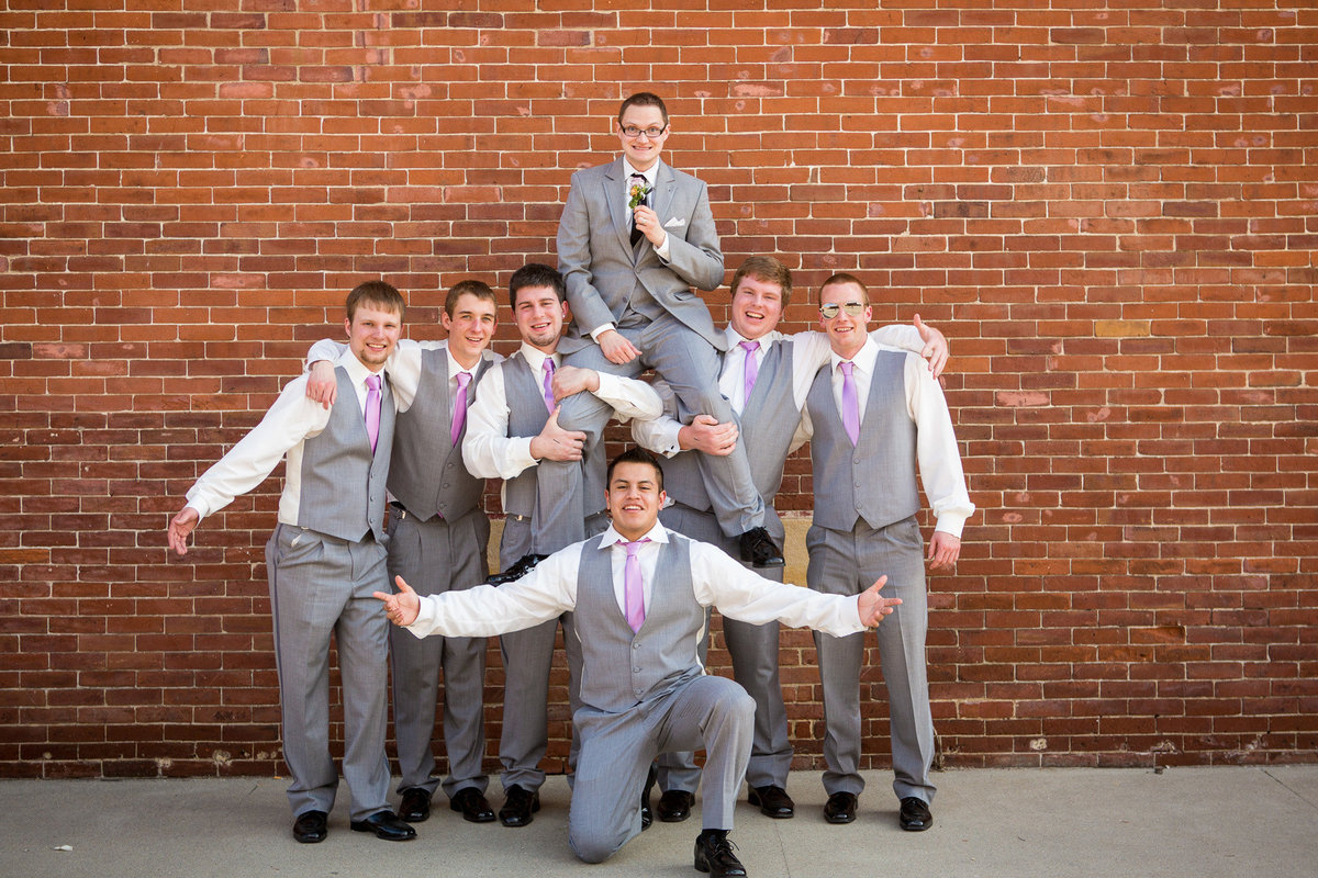 love these groomsmen.  they truly had their groom's back.