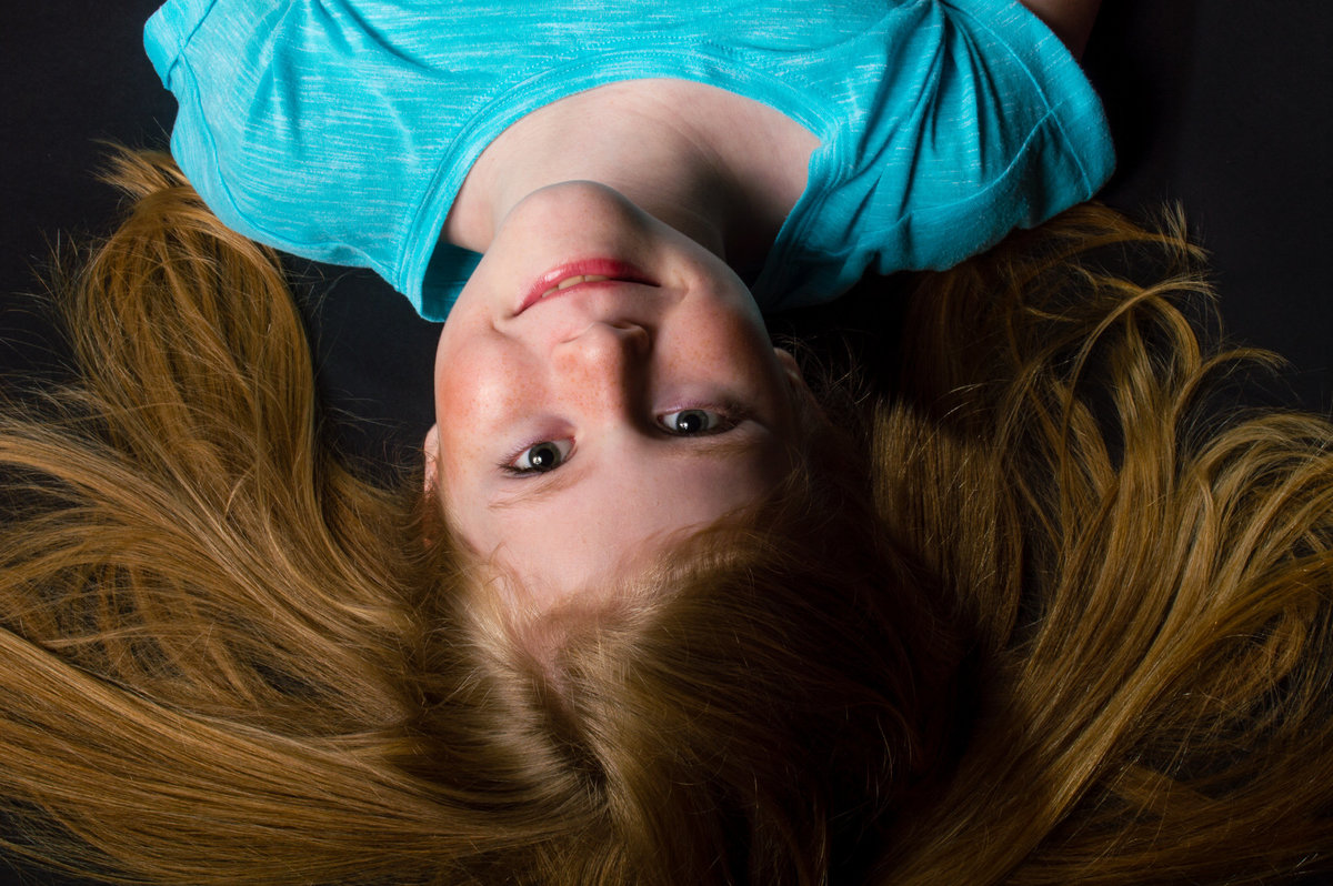 Family Photography Girl Upside Down