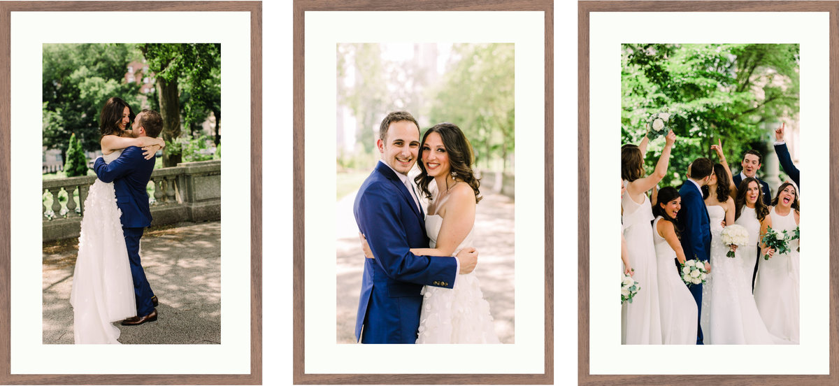 Custom designed wedding and engagement session wall art