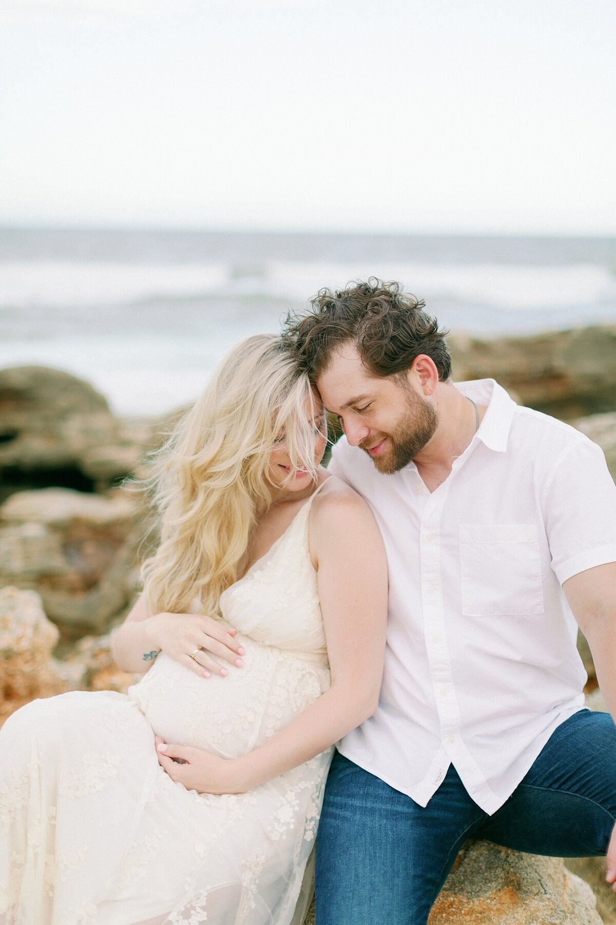 Ashley + Adrian Pamparau Washington Oaks State Park Maternity Session Photographer Casie Marie Photography-102