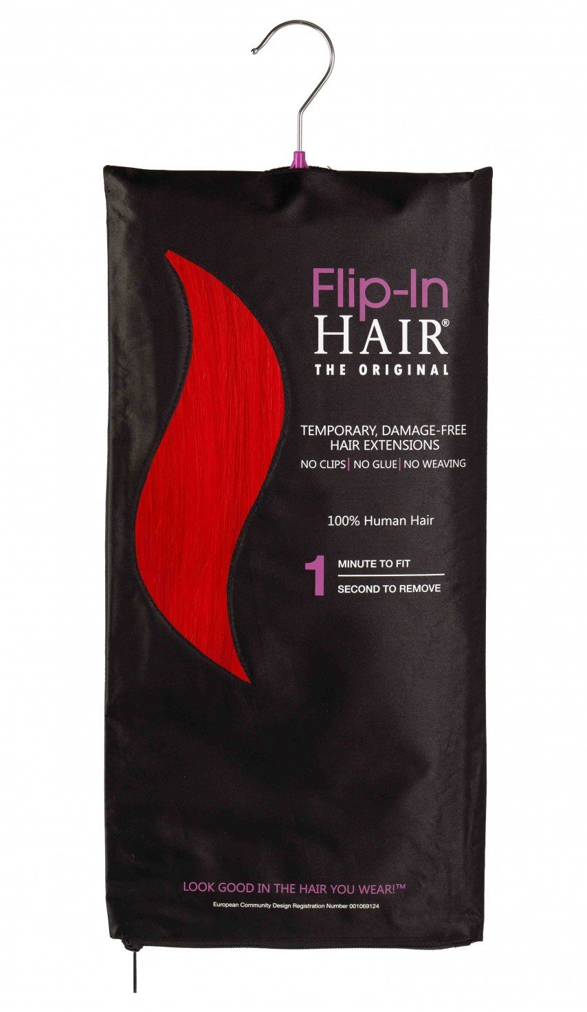 Flip-In Hair Original Flame Red
