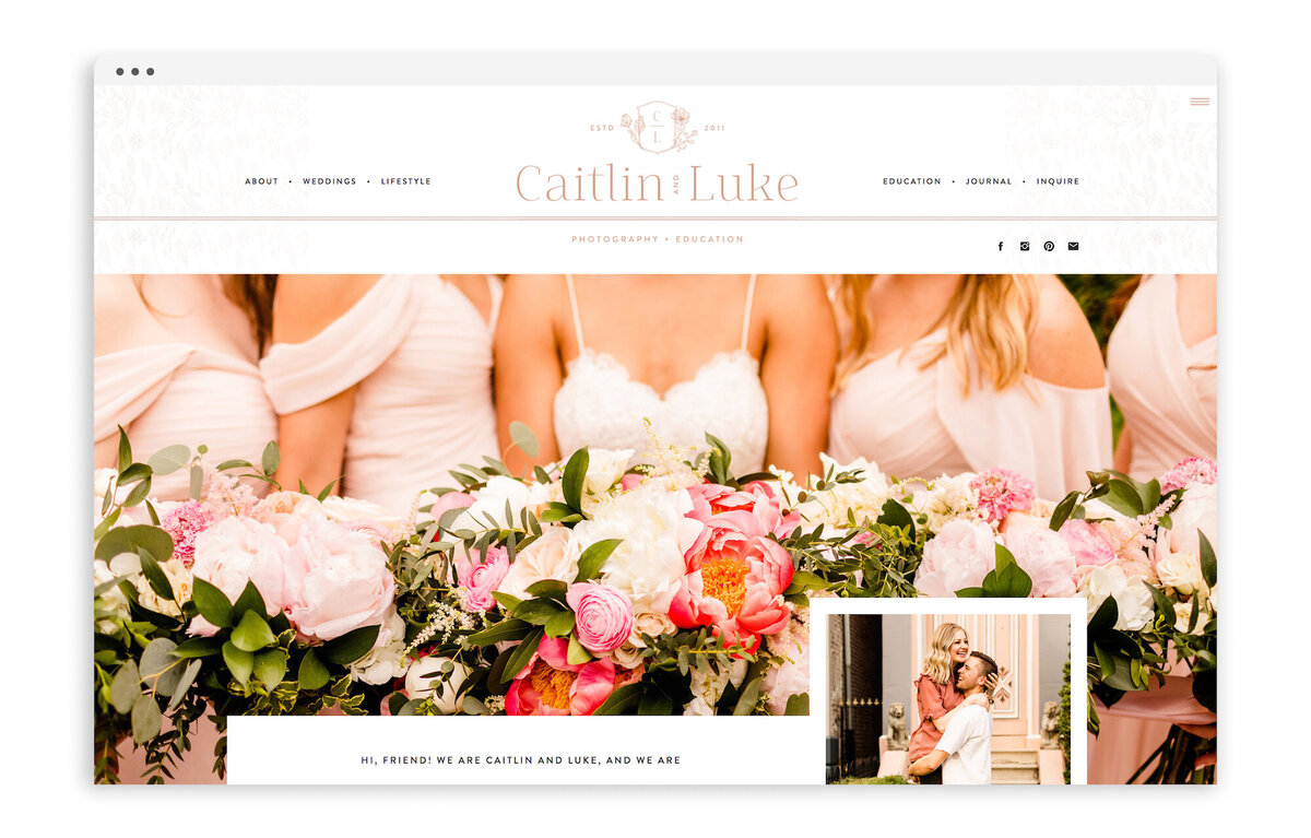 Caitlin and Luke Photography - Custom Brand Logo and Showit Web Website Design by With Grace and Gold - 20