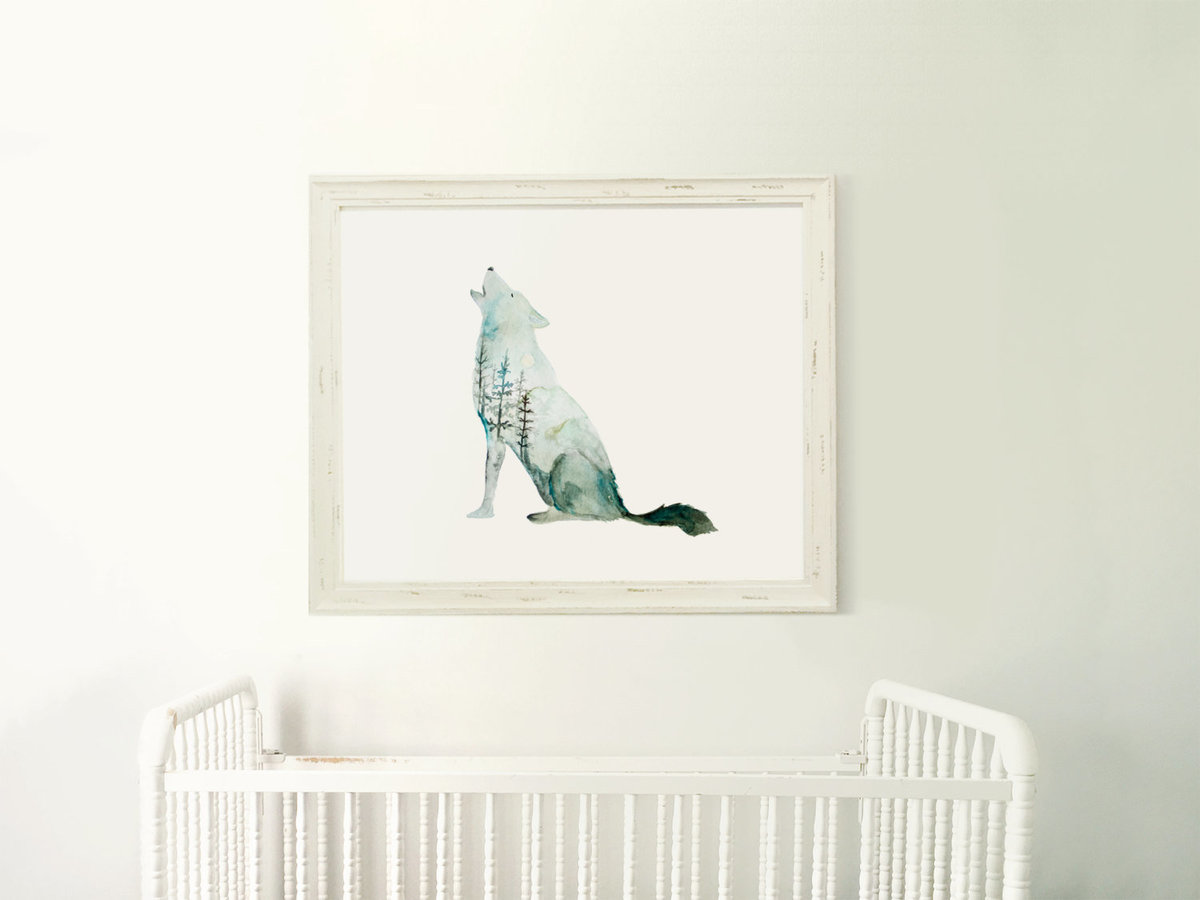 Galaxy_Howling_Wolf_Profile_Mountain_Printable_Artwork_-_Animal_Nursery_-_Watercolor_-_Northern_Ligh-482244159-_2