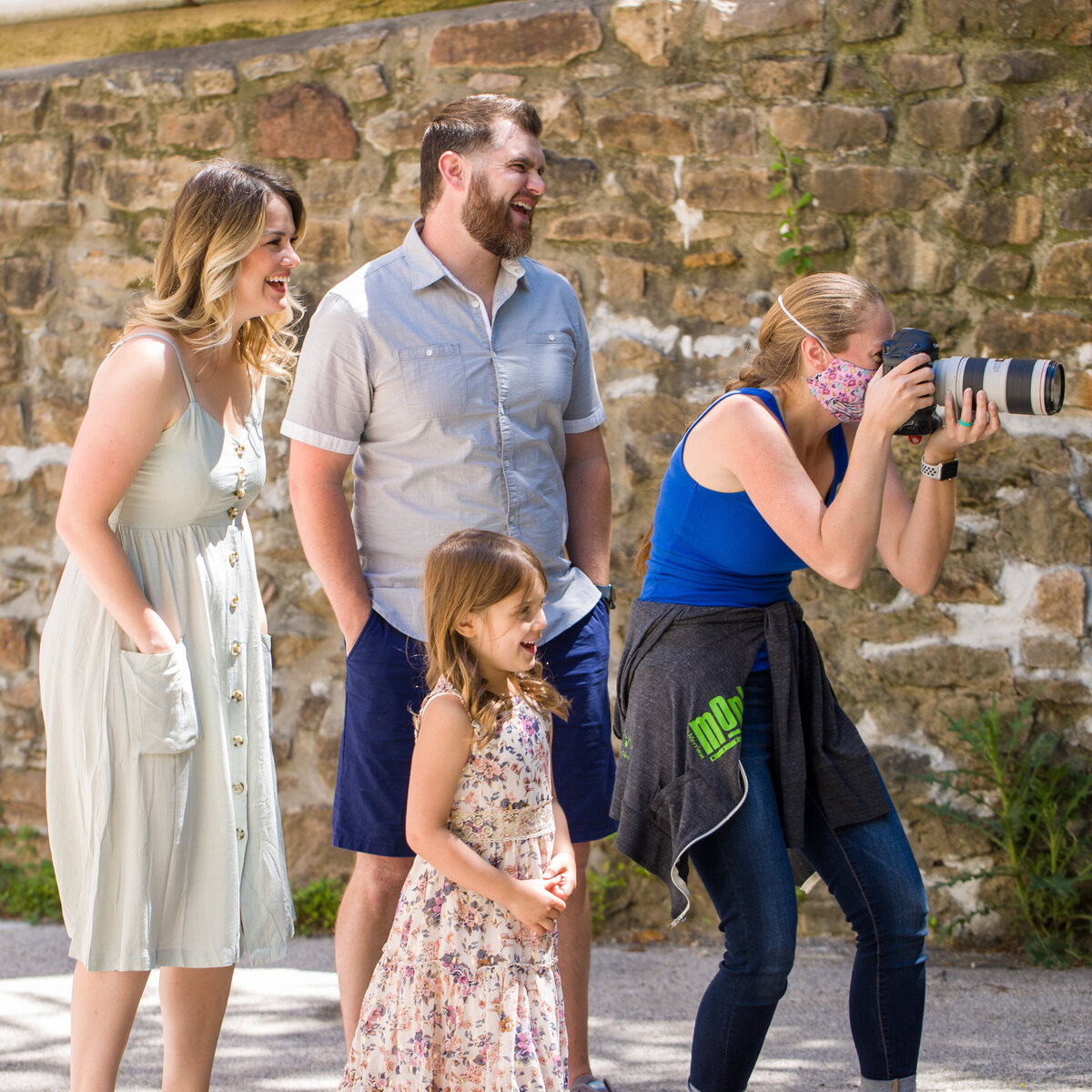 Behind the scenes with a family photographer at a Phoenixville mini session photography event
