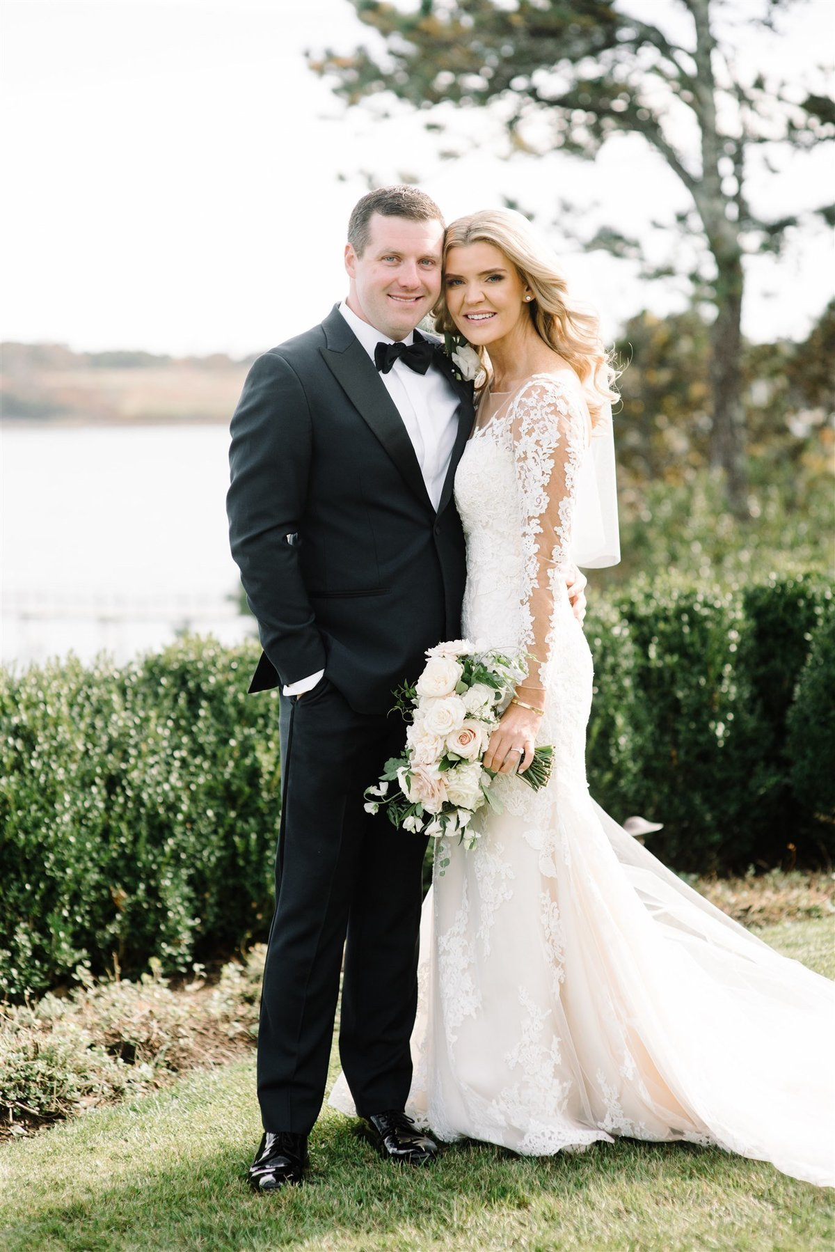 Black Tie high end wedding at Wequassett Resort for a Cape Cod Wedding by luxury Cape Cod wedding planner and designer Always Yours Events