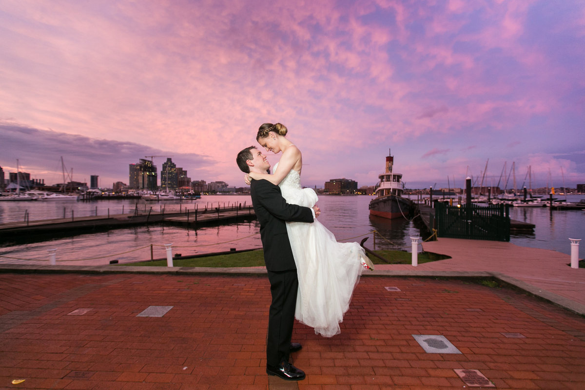 Pink-Sunset-Baltimore-Museum-of-Industry-Wedding-Photo-BMI