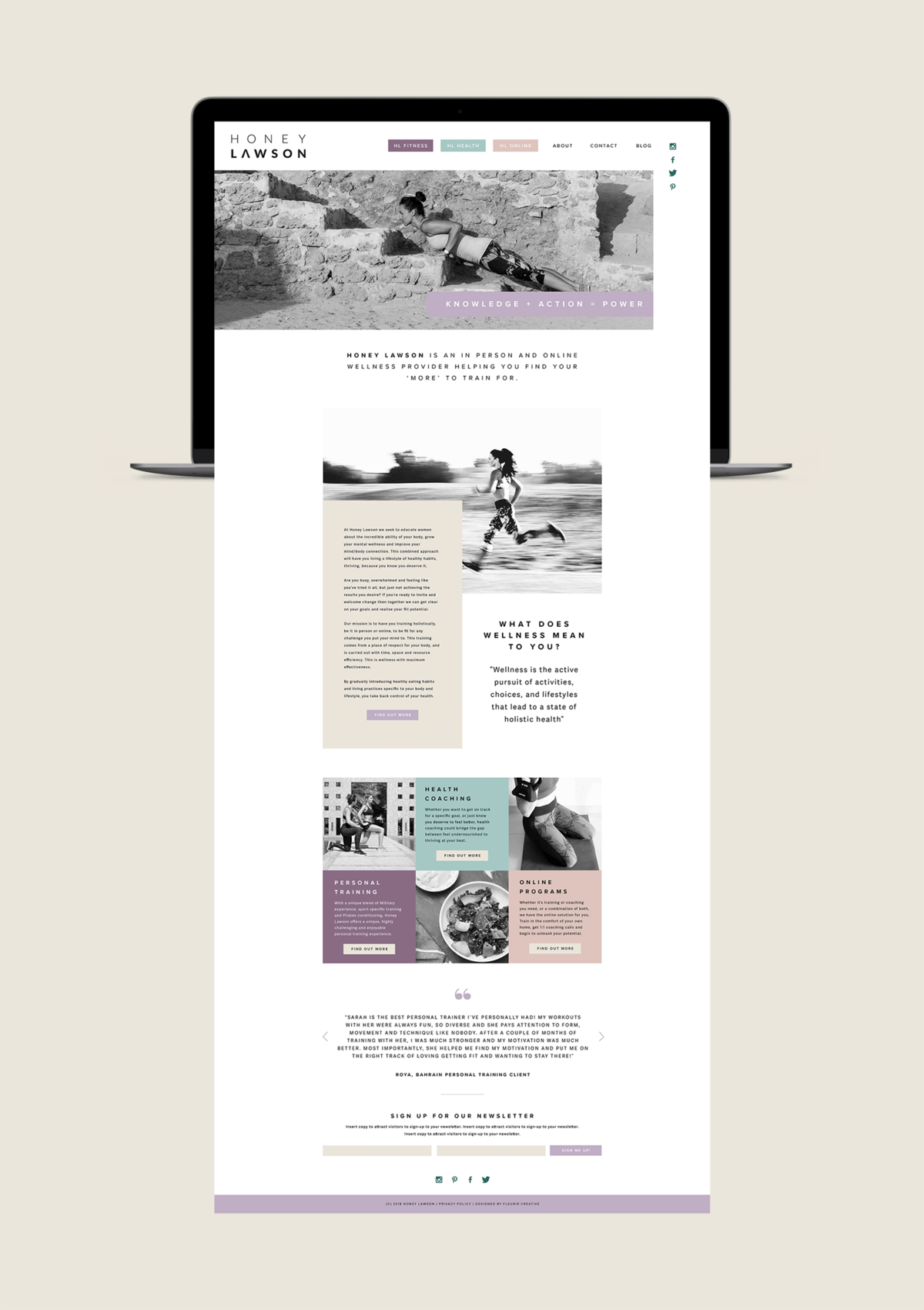 Honey Lawson Website | Health Coach Branding and Website Design